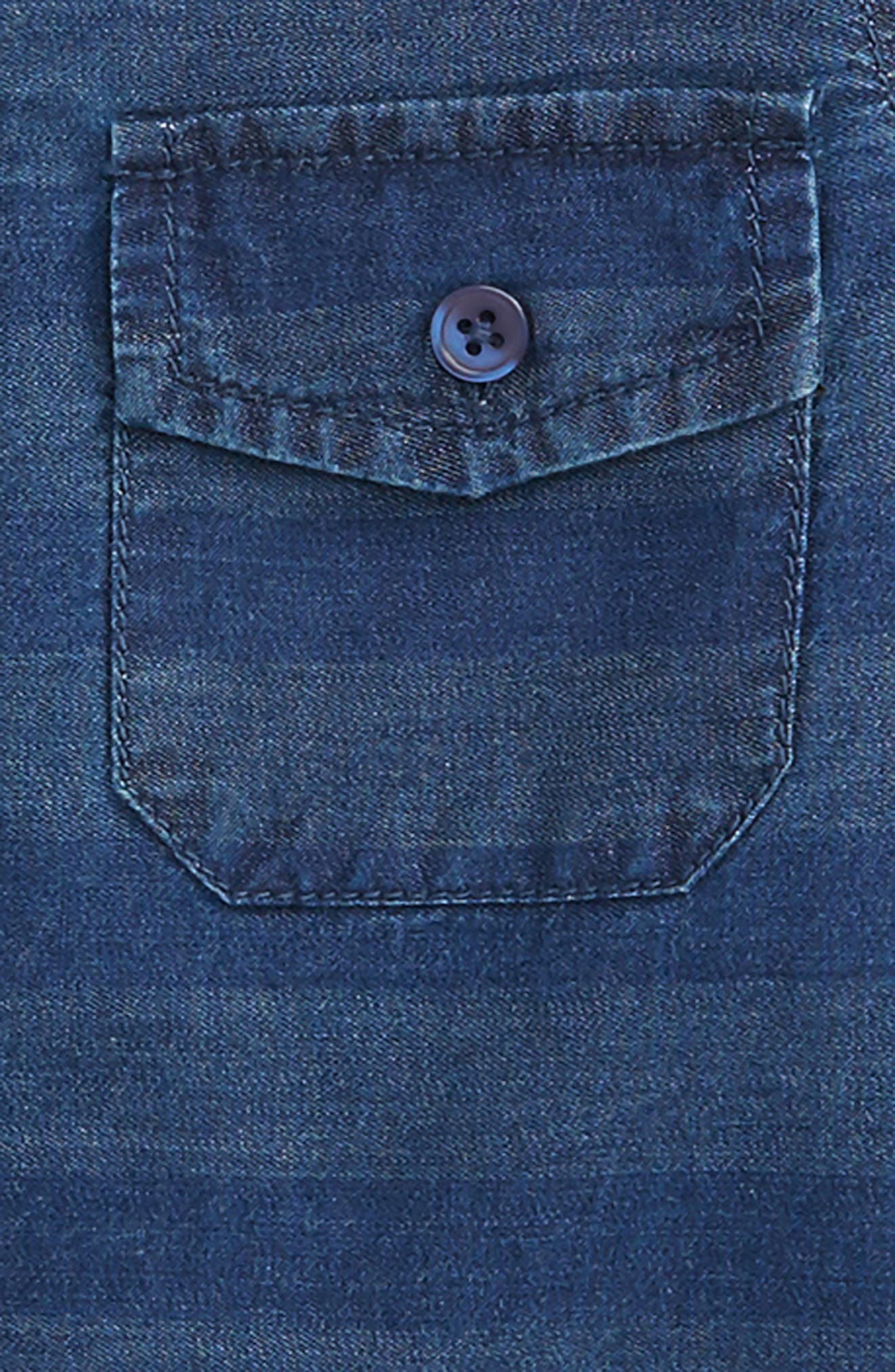 Aiden Stripe Chambray Shirt,                             Alternate thumbnail 2, color,                             Indigo