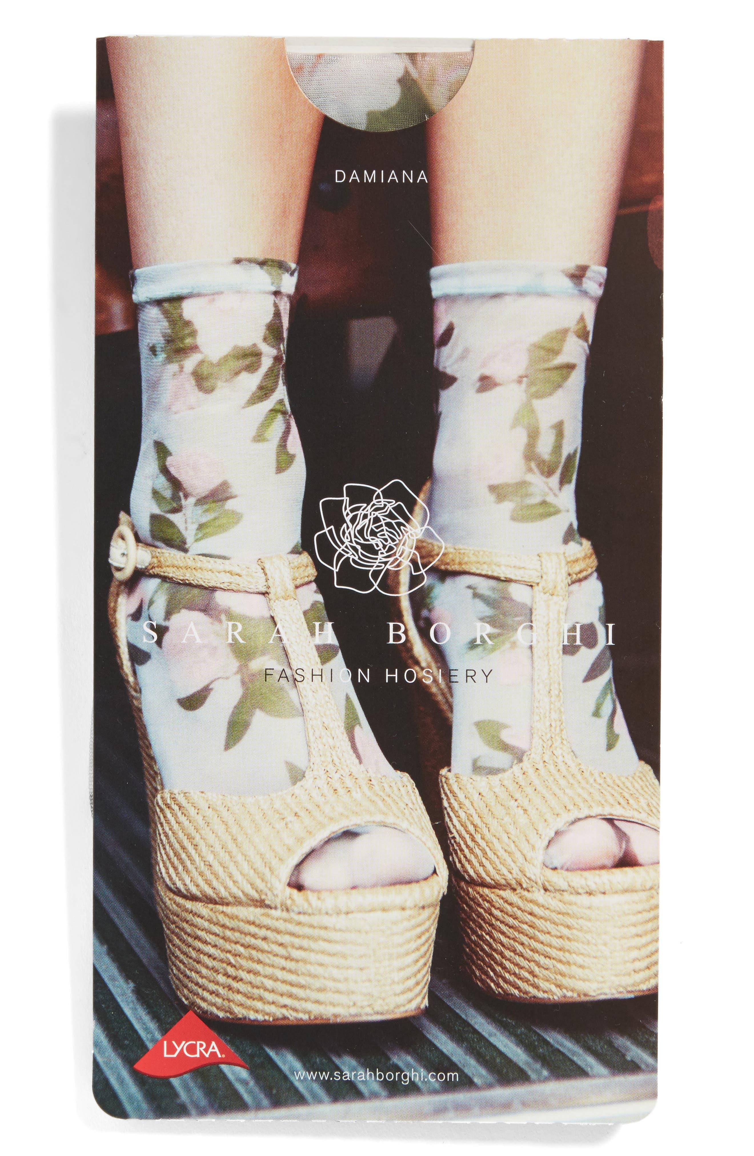 Damiana Ankle Socks,                             Alternate thumbnail 2, color,                             Blue