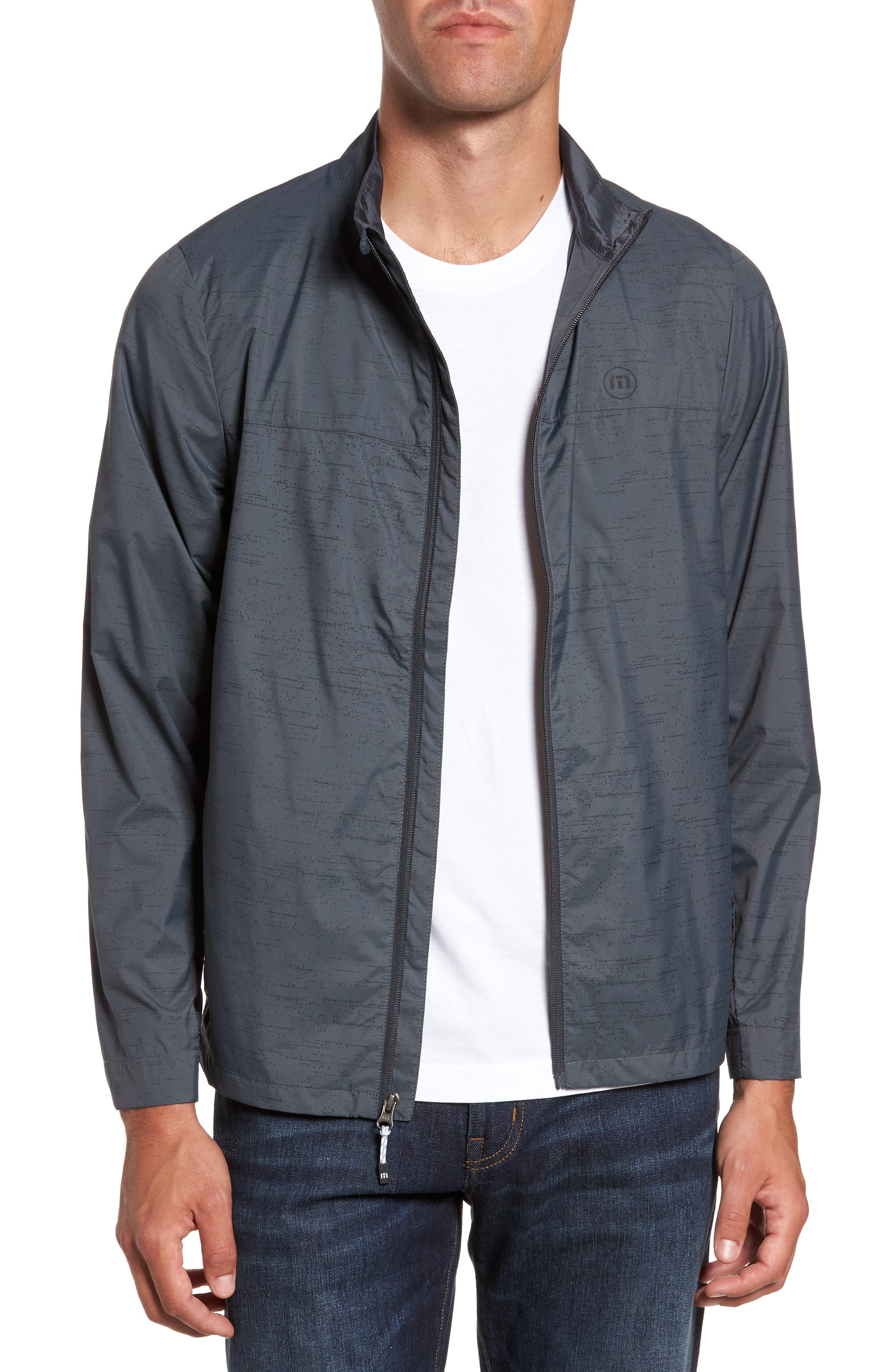 The Voyager Jacket,                         Main,                         color, Grey Pinstripe