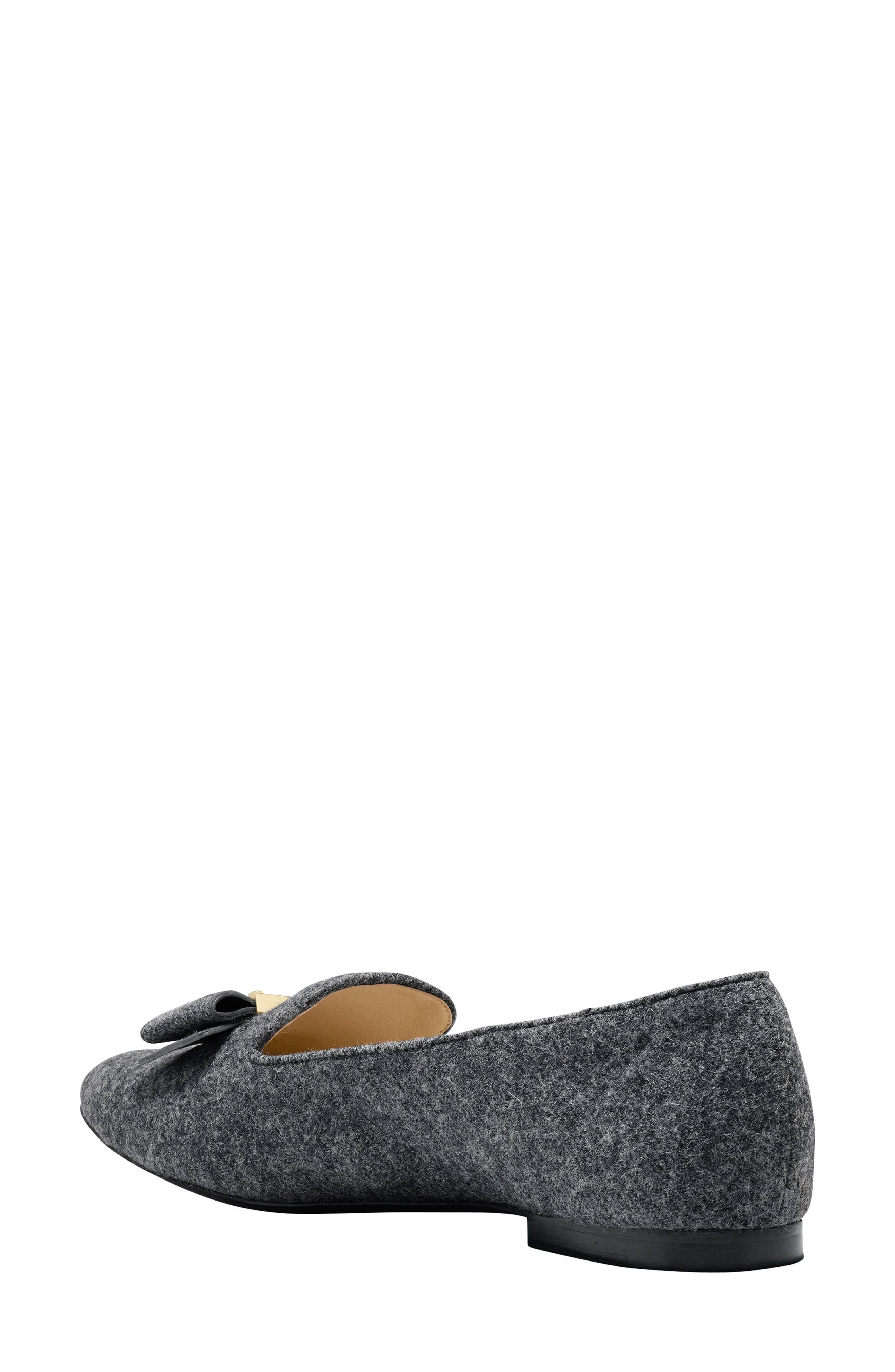 Tali Bow Loafer,                             Alternate thumbnail 2, color,                             Gray Flannel