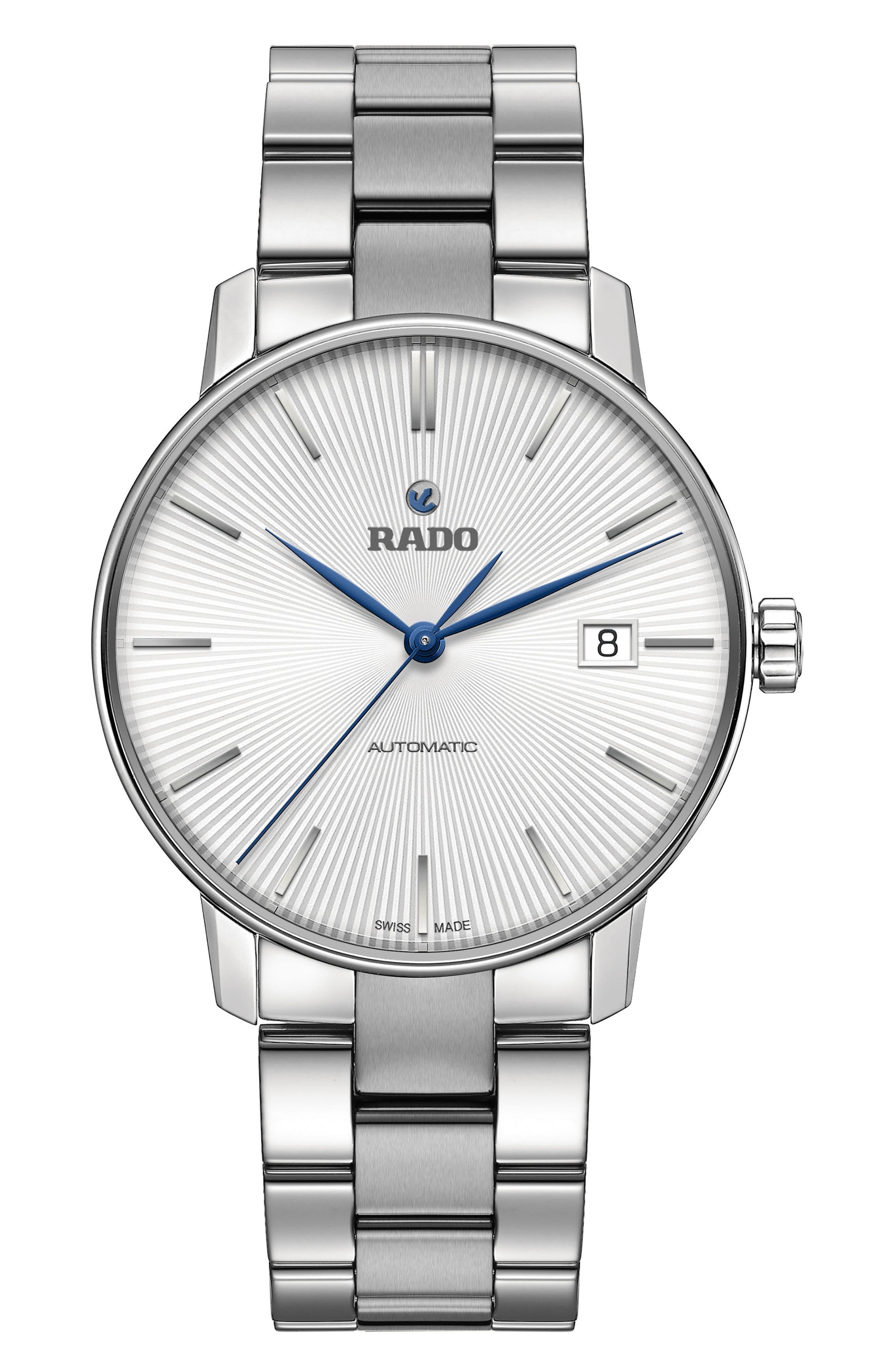 Coupole Classic Automatic Bracelet Watch, 37.7mm,                         Main,                         color, Silver