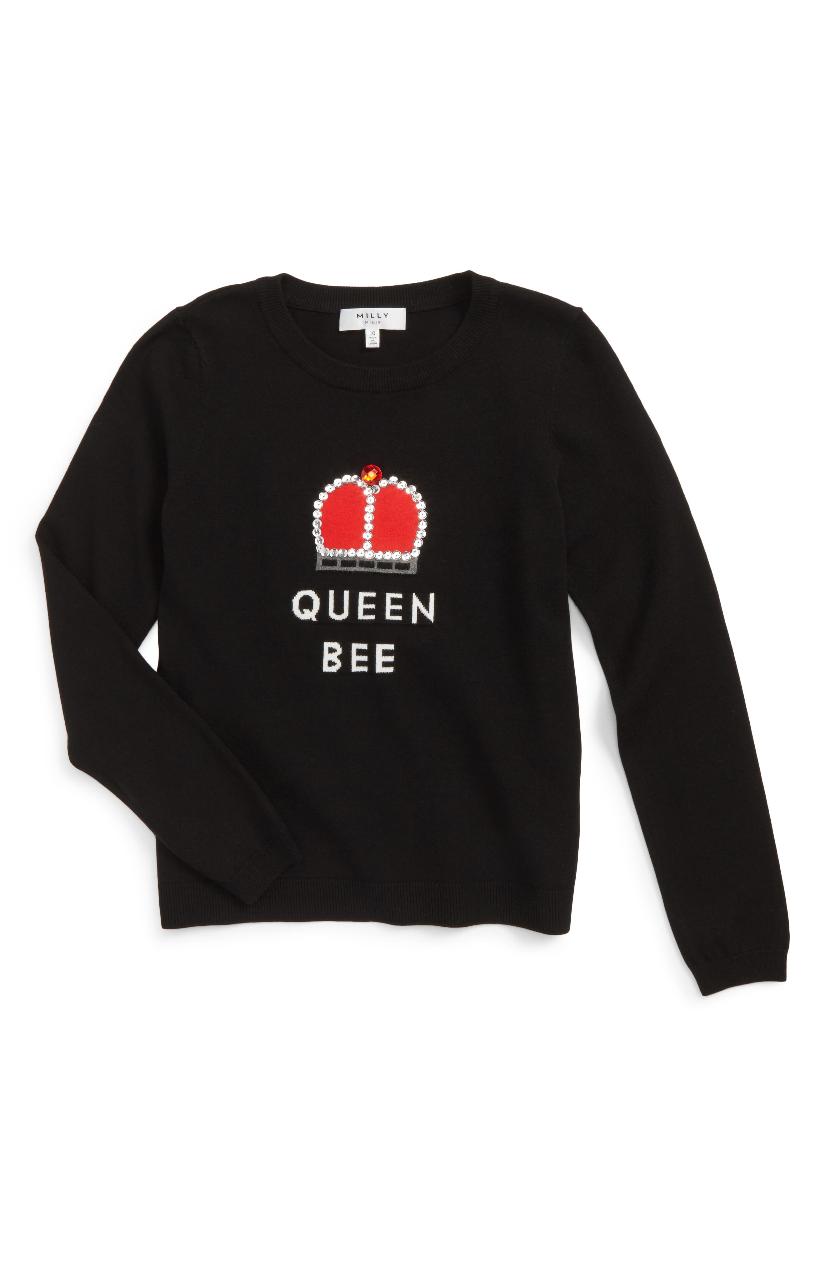 Milly Minis Queen Bee Embellished Pullover (Big Girls)
