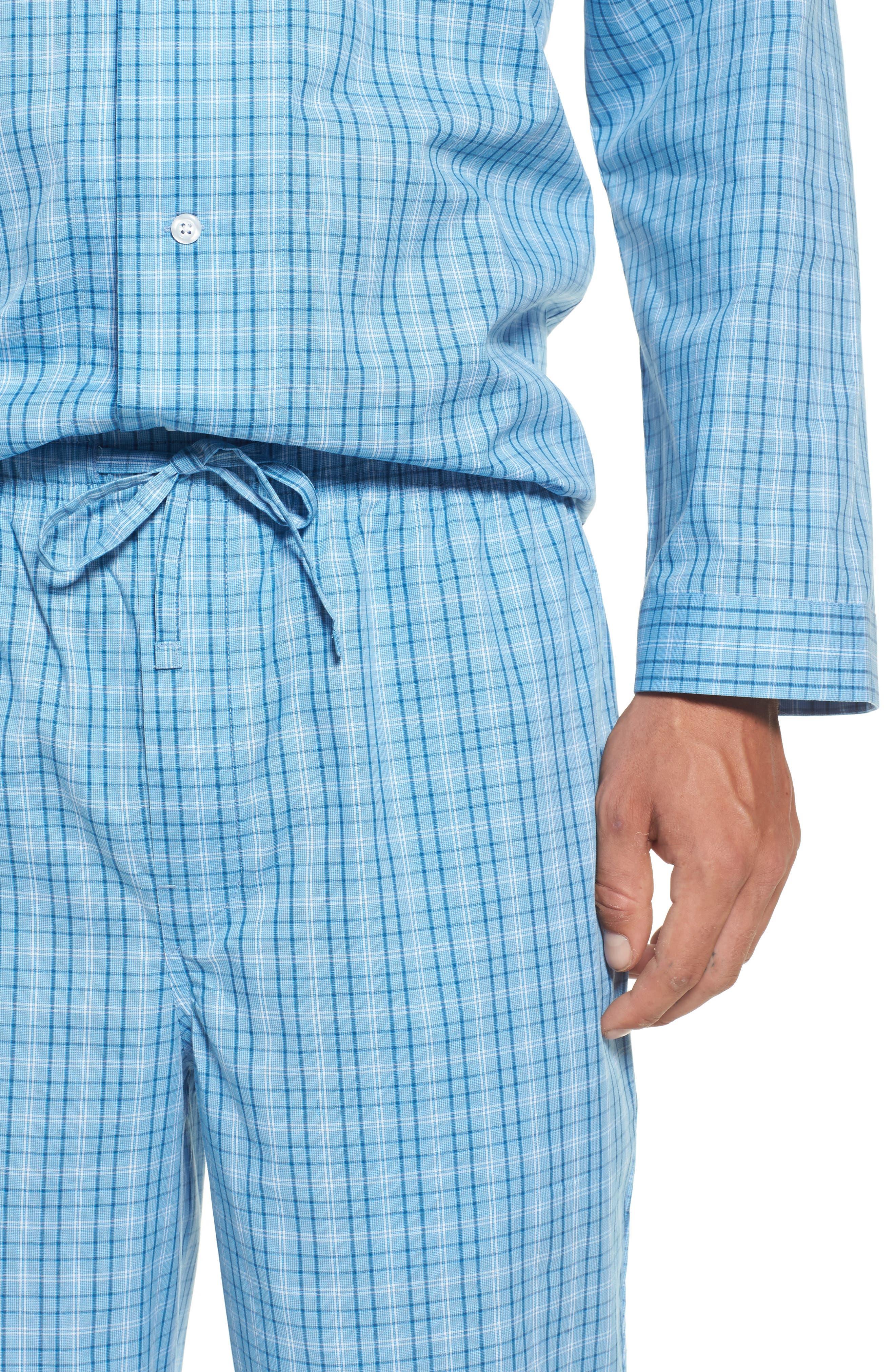 Alternate Image 4  - Nordstrom Men's Shop Poplin Pajama Set