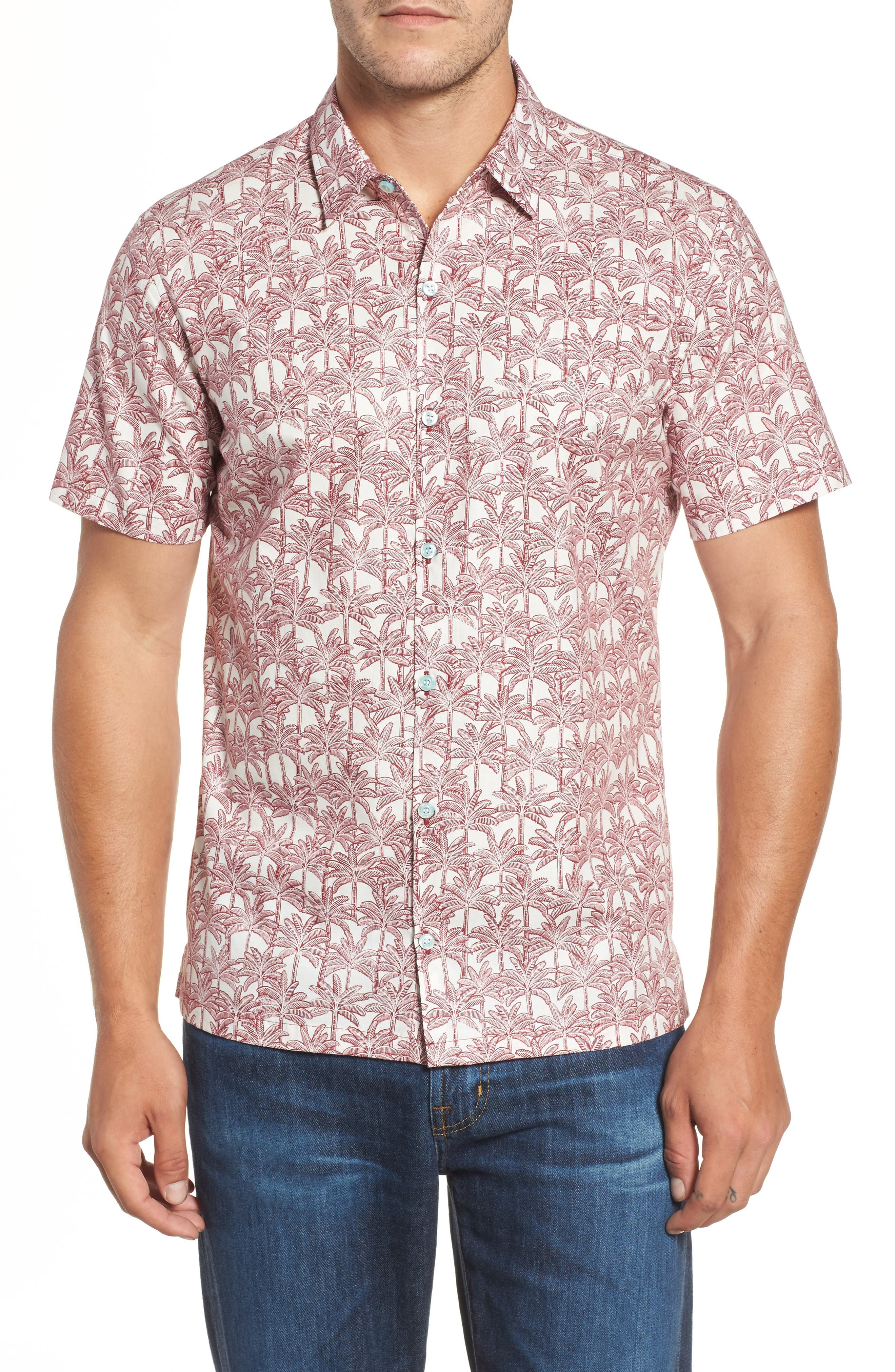 Tori Richard La Palma Regular Fit Print Sport Shirt