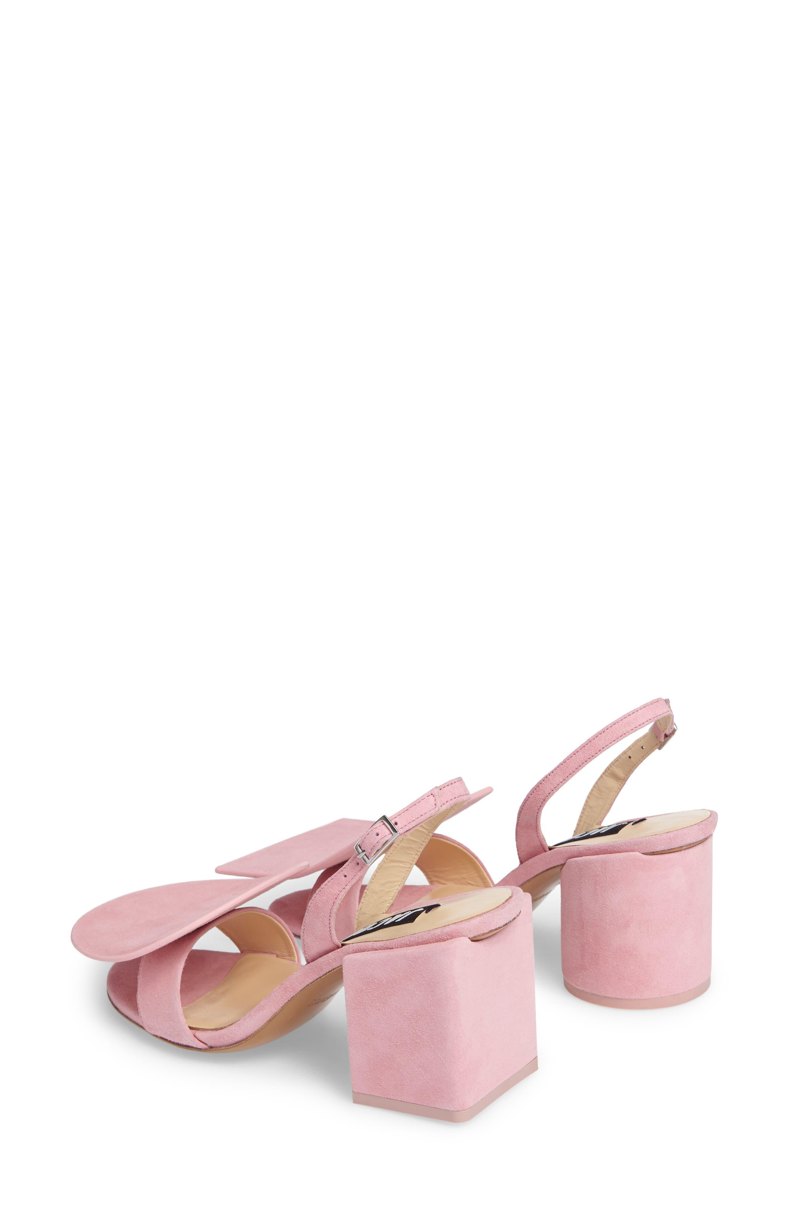 Les Rond Carré Suede Sandal,                             Alternate thumbnail 2, color,                             Pink