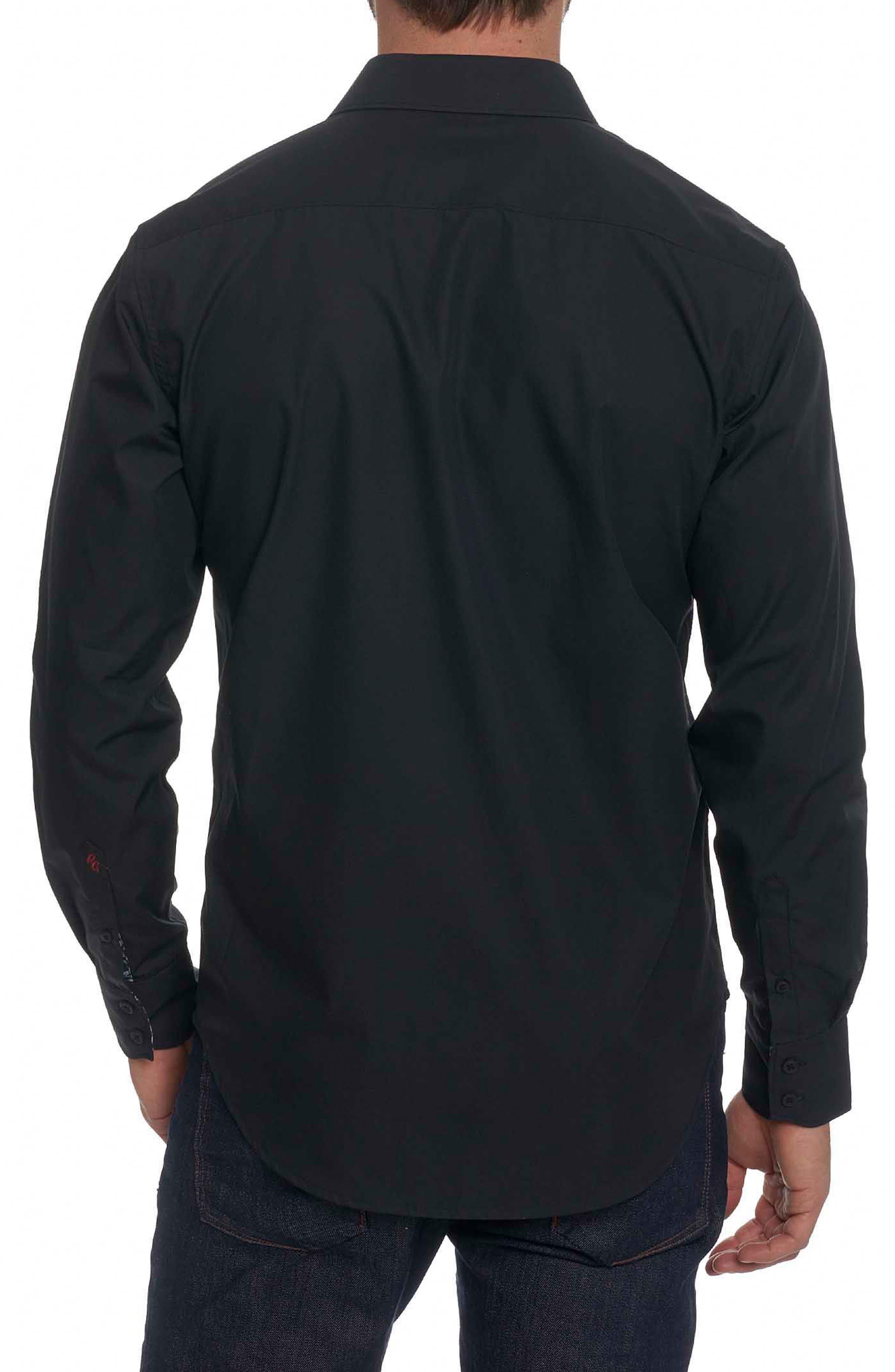 Alternate Image 2  - Robert Graham Onyx Classic Fit Embroidered Sport Shirt
