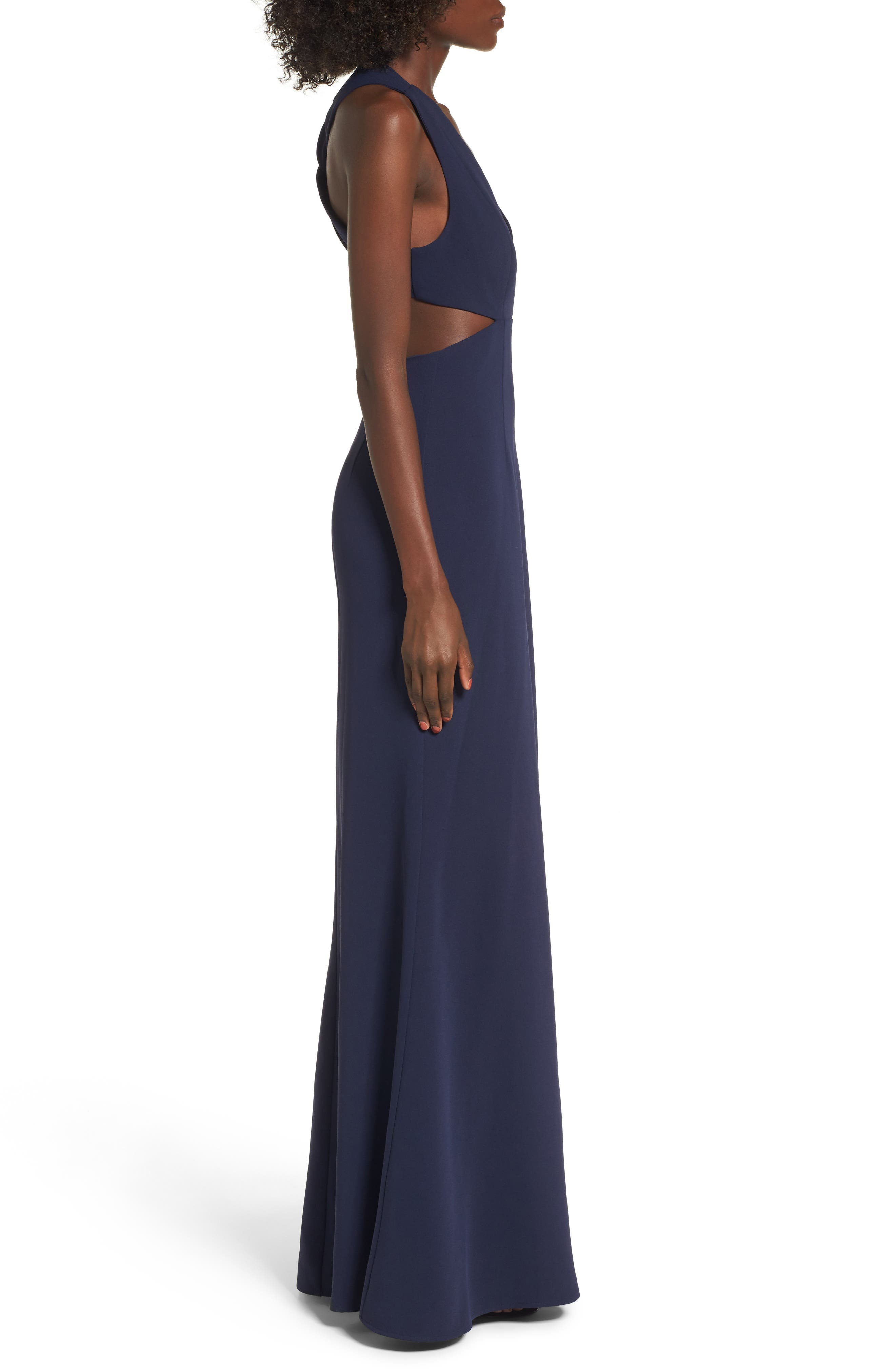 Yani Gown,                             Alternate thumbnail 3, color,                             Navy