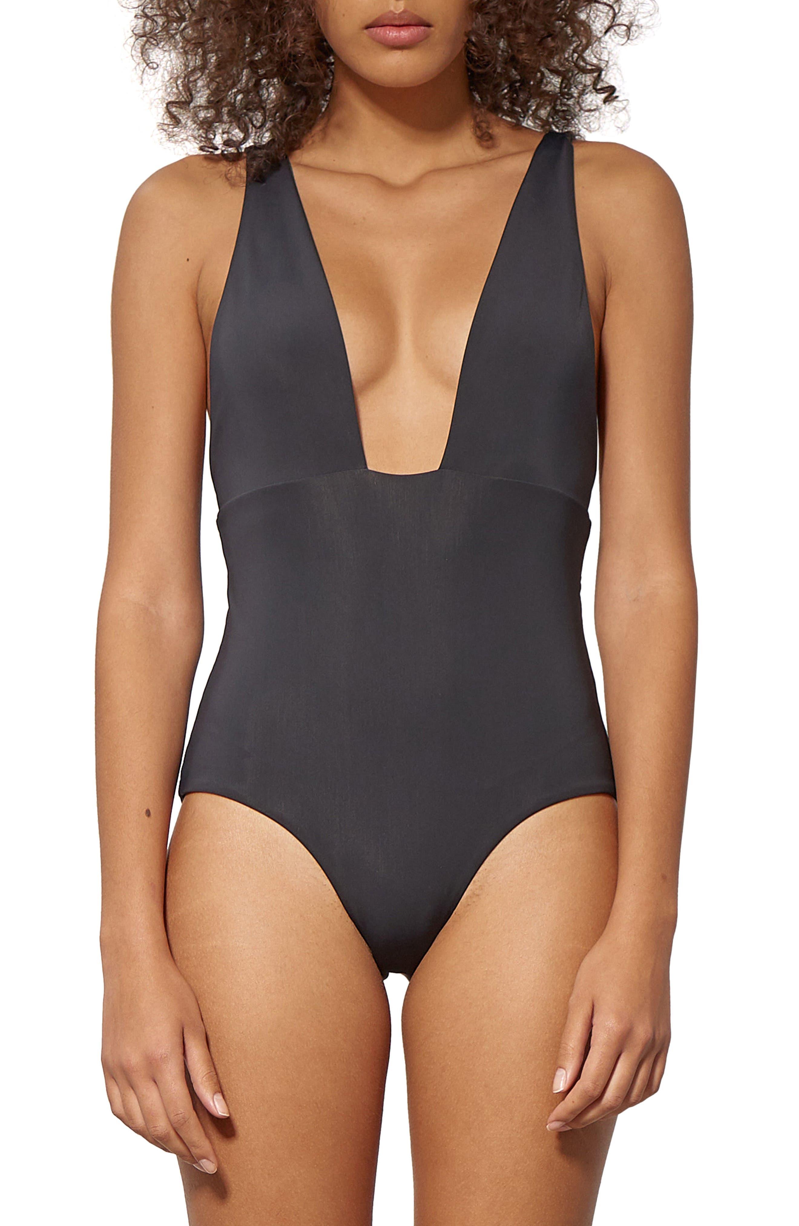 Audrey One-Piece Swimsuit,                         Main,                         color, Black