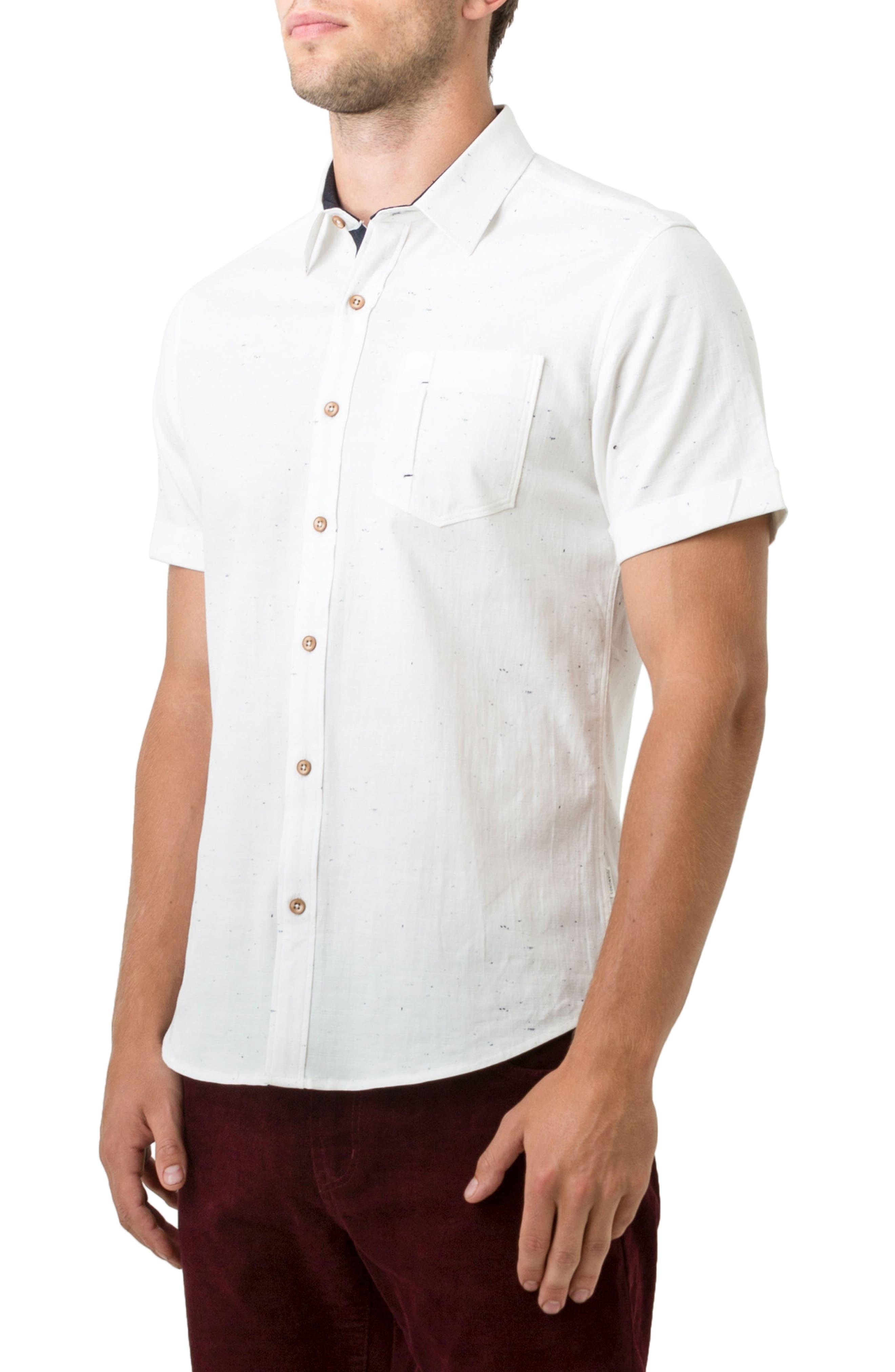 Mystic Traveler Woven Shirt,                             Alternate thumbnail 3, color,                             White