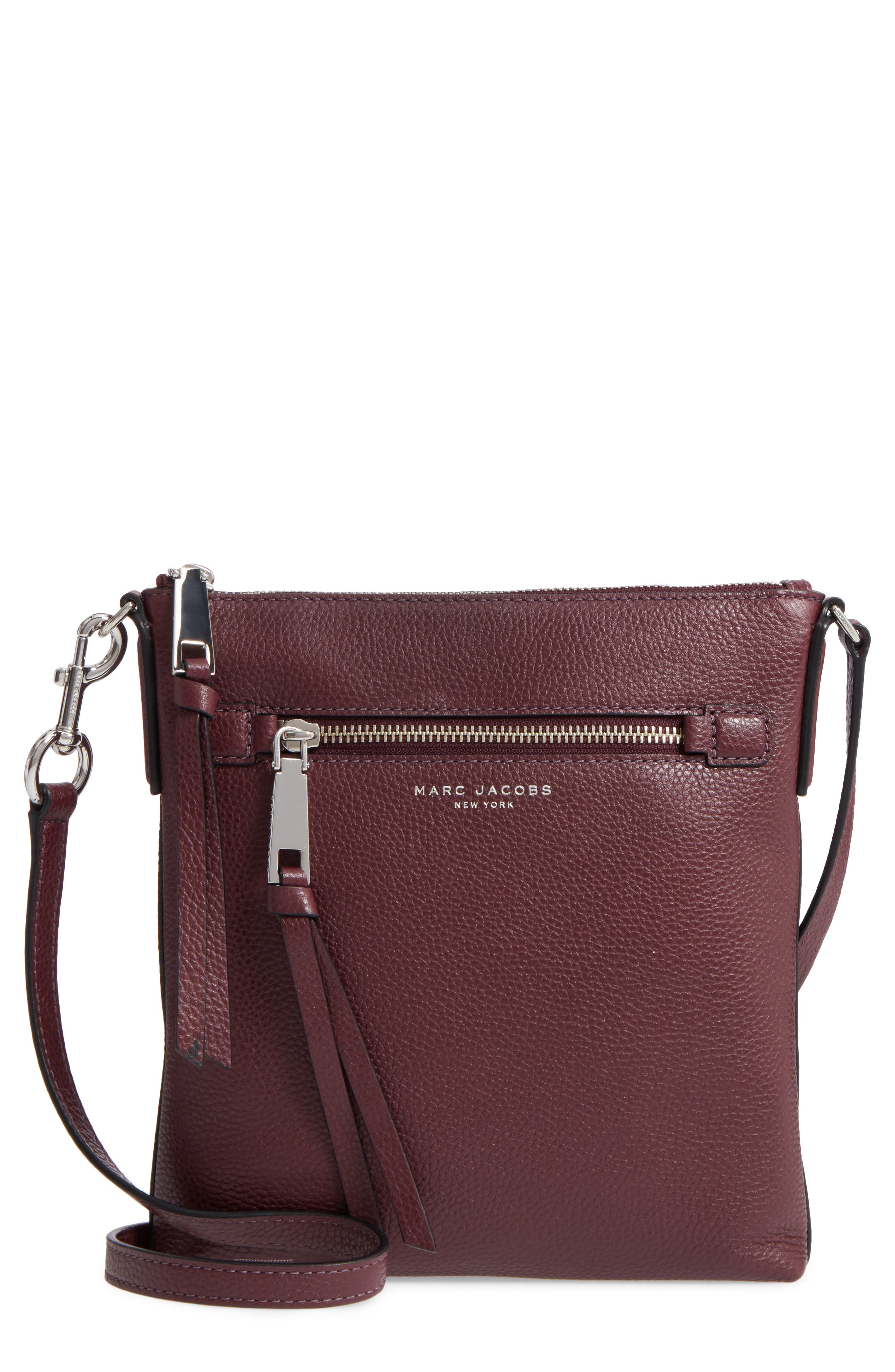 MARC JACOBS Recruit North/South Leather Crossbody Bag