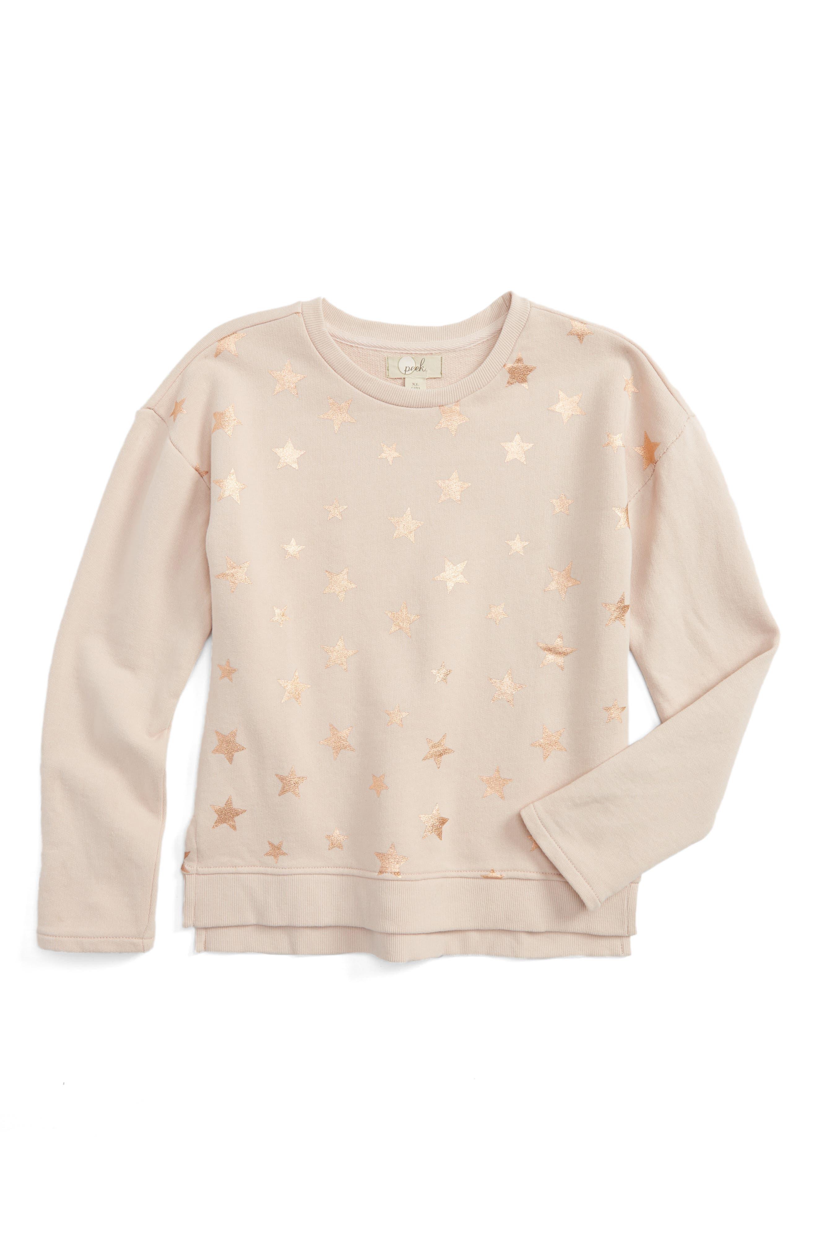 Peek Star Print Sweatshirt (Toddler Girls, Little Girls & Big Girls)