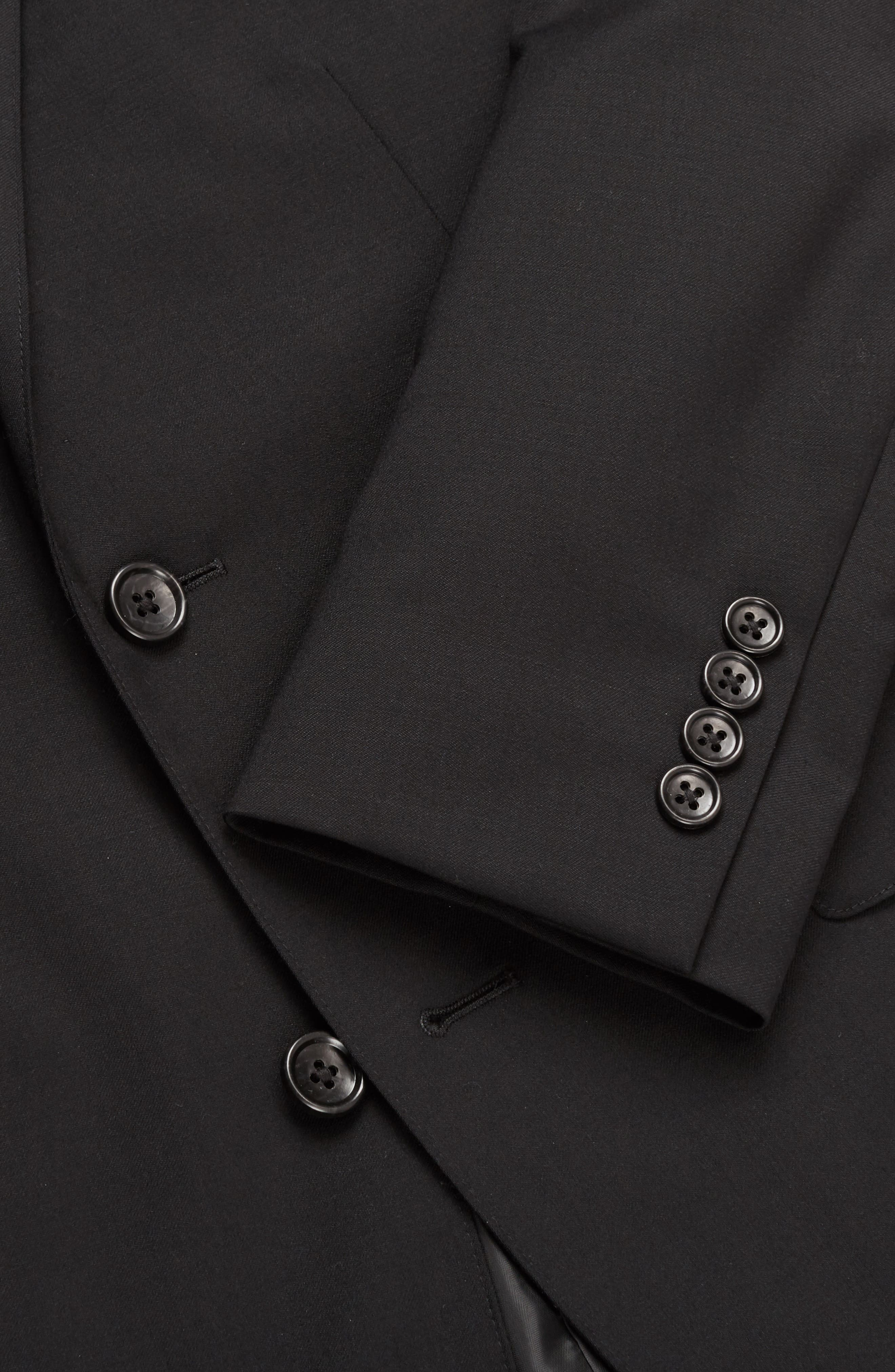 Jetsetter Trim Fit Stretch Wool Suit Jacket,                             Alternate thumbnail 5, color,                             Black