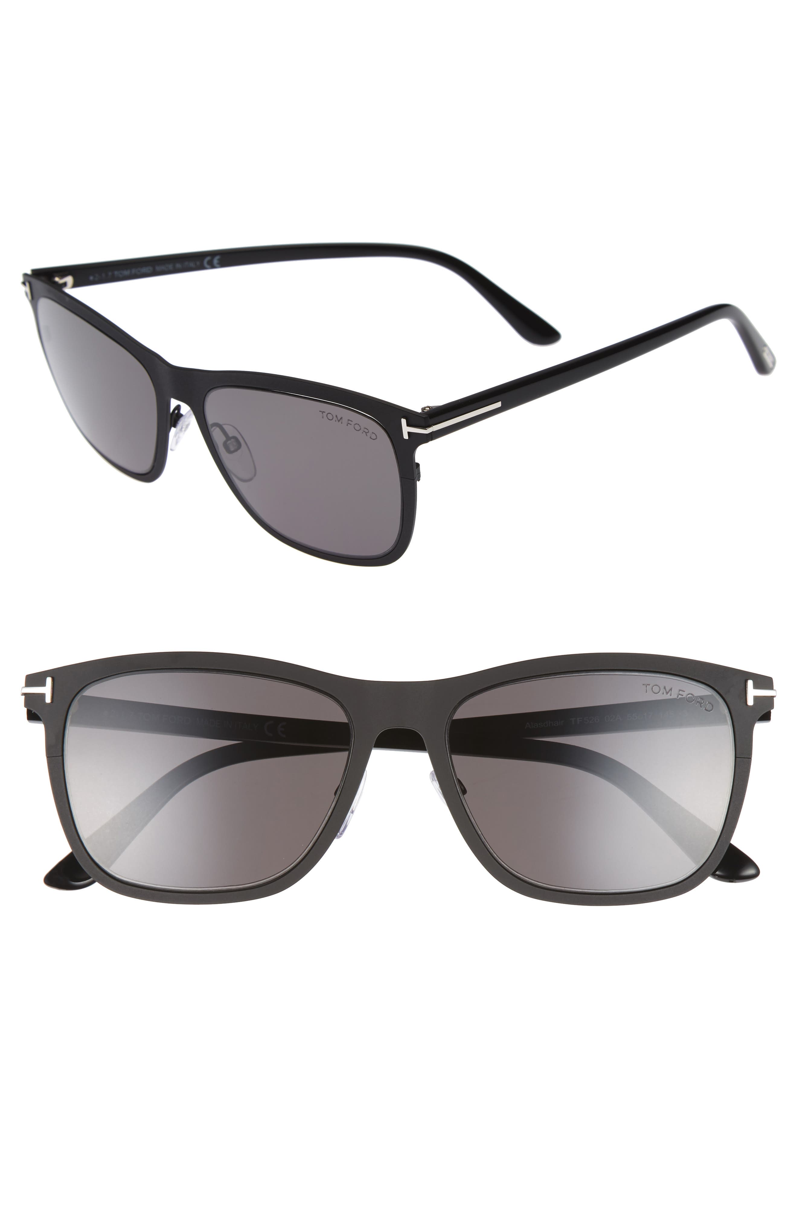 TOM FORD Alasdhair 55mm Sunglasses