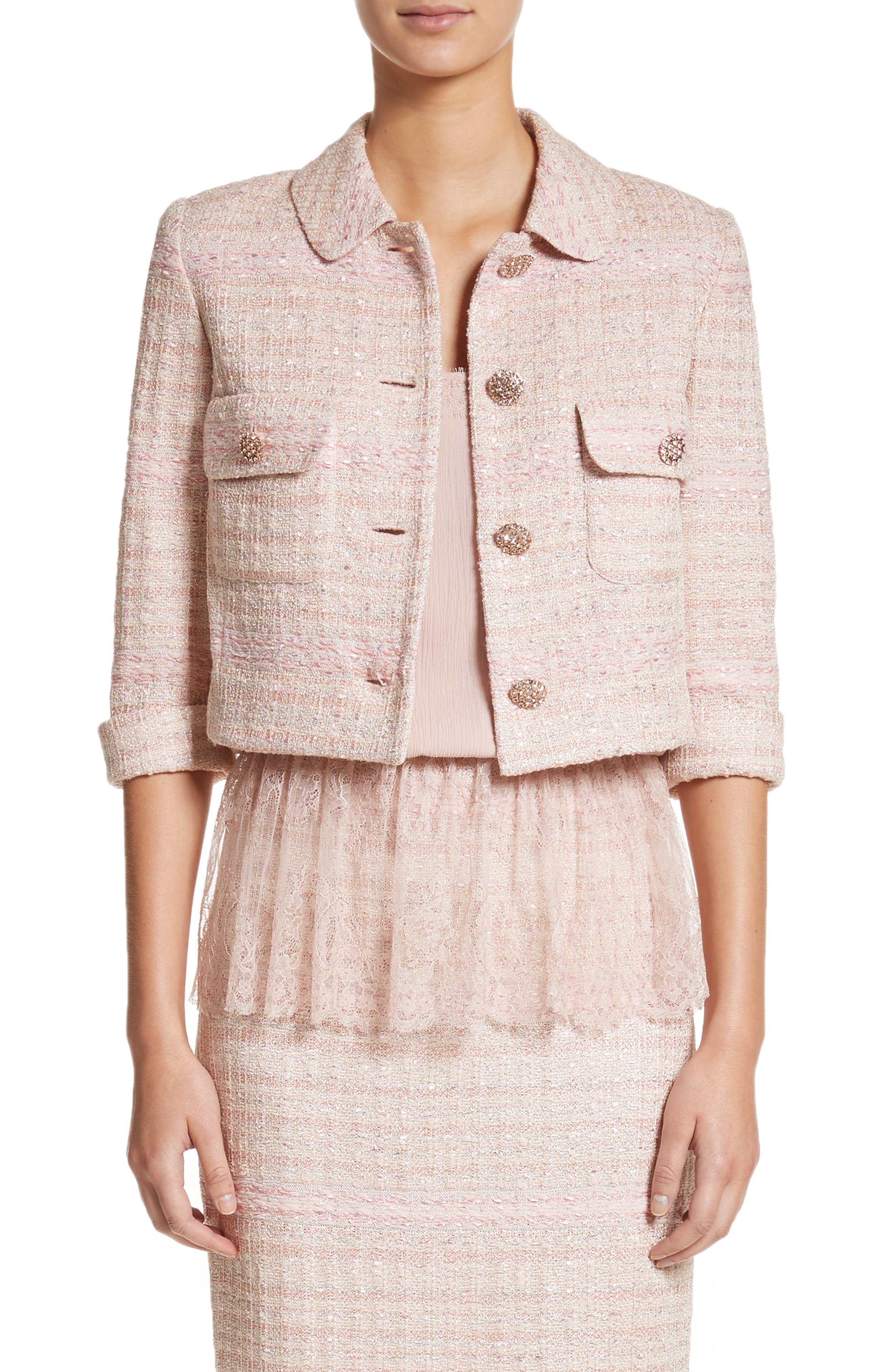 Guilded Pastel Knit Jacket,                         Main,                         color, Blush Multi