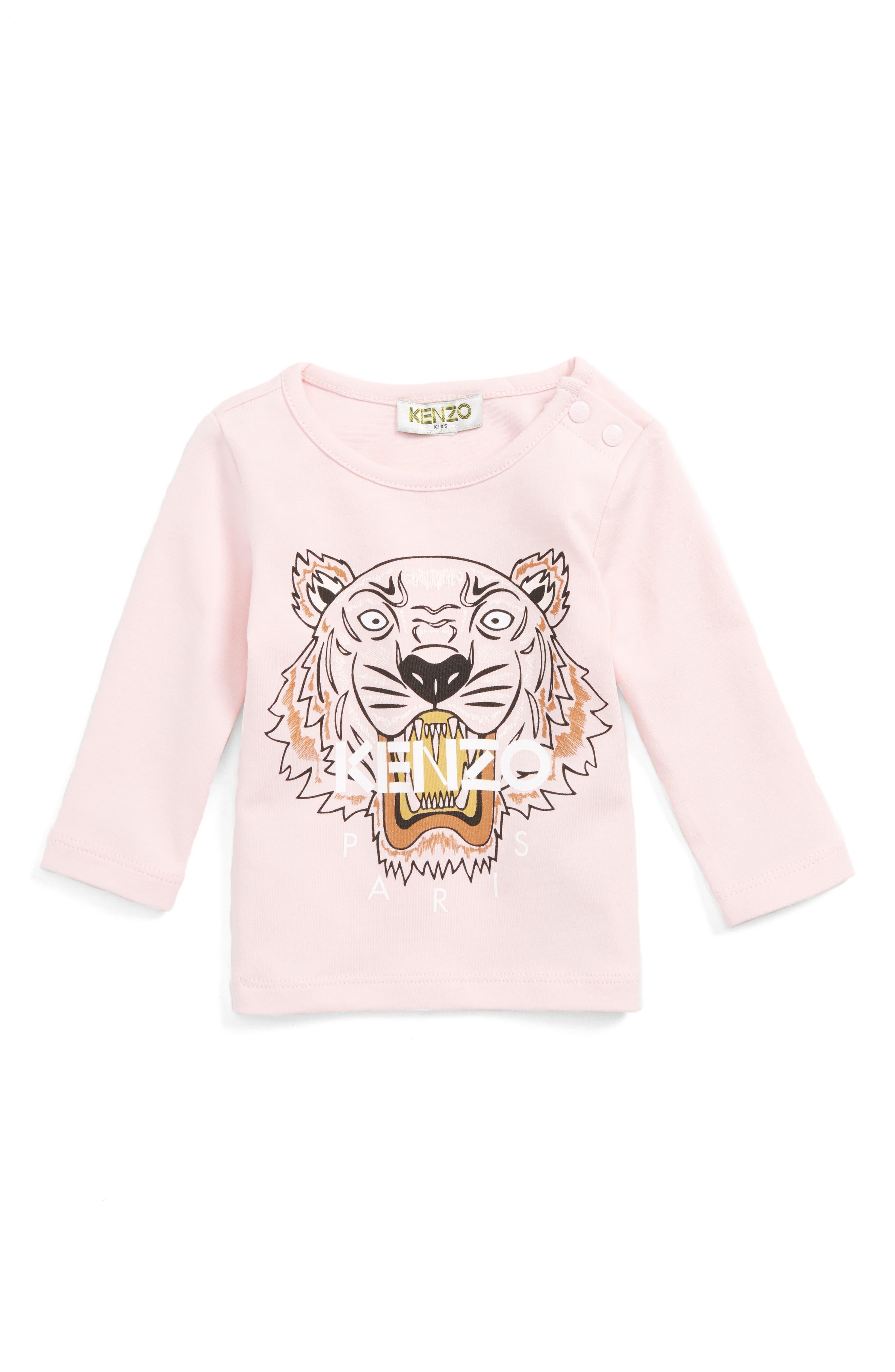 Main Image - KENZO Tiger Tee (Baby Girls)