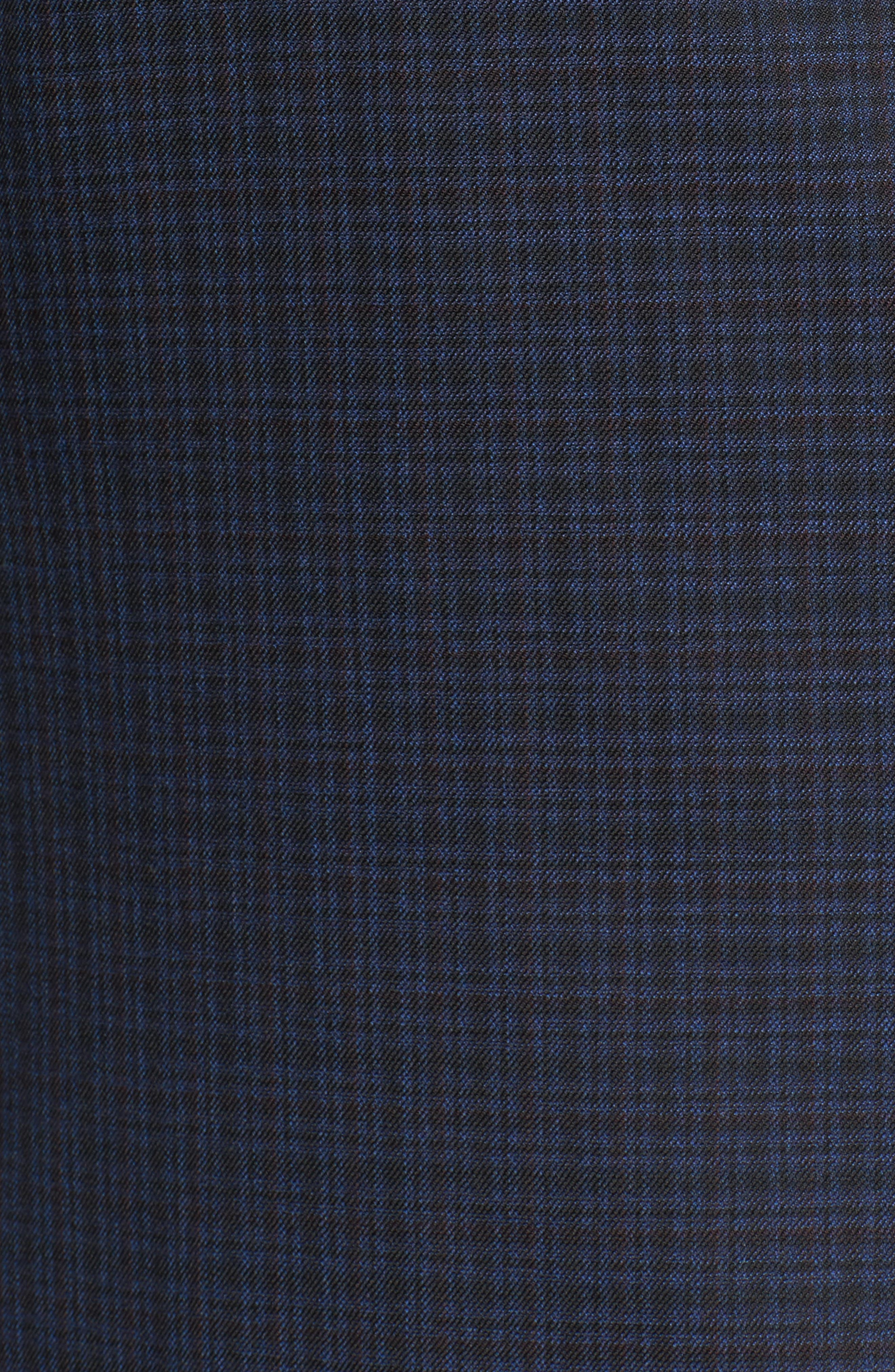 Classic B Fit Check Wool Sport Coat,                             Alternate thumbnail 5, color,                             Navy