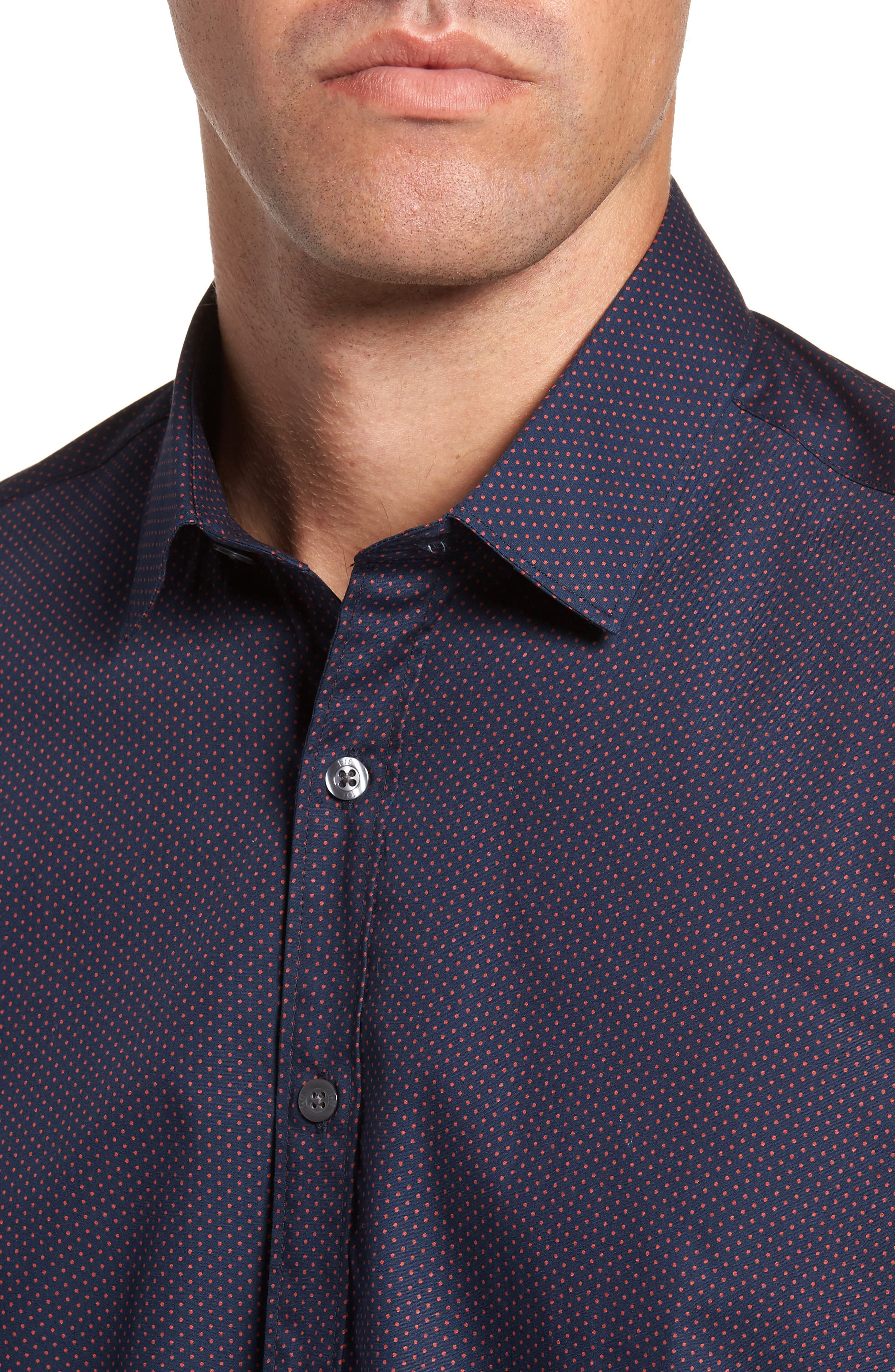 Alternate Image 4  - Jeff Arlington Slim Fit Print Sport Shirt