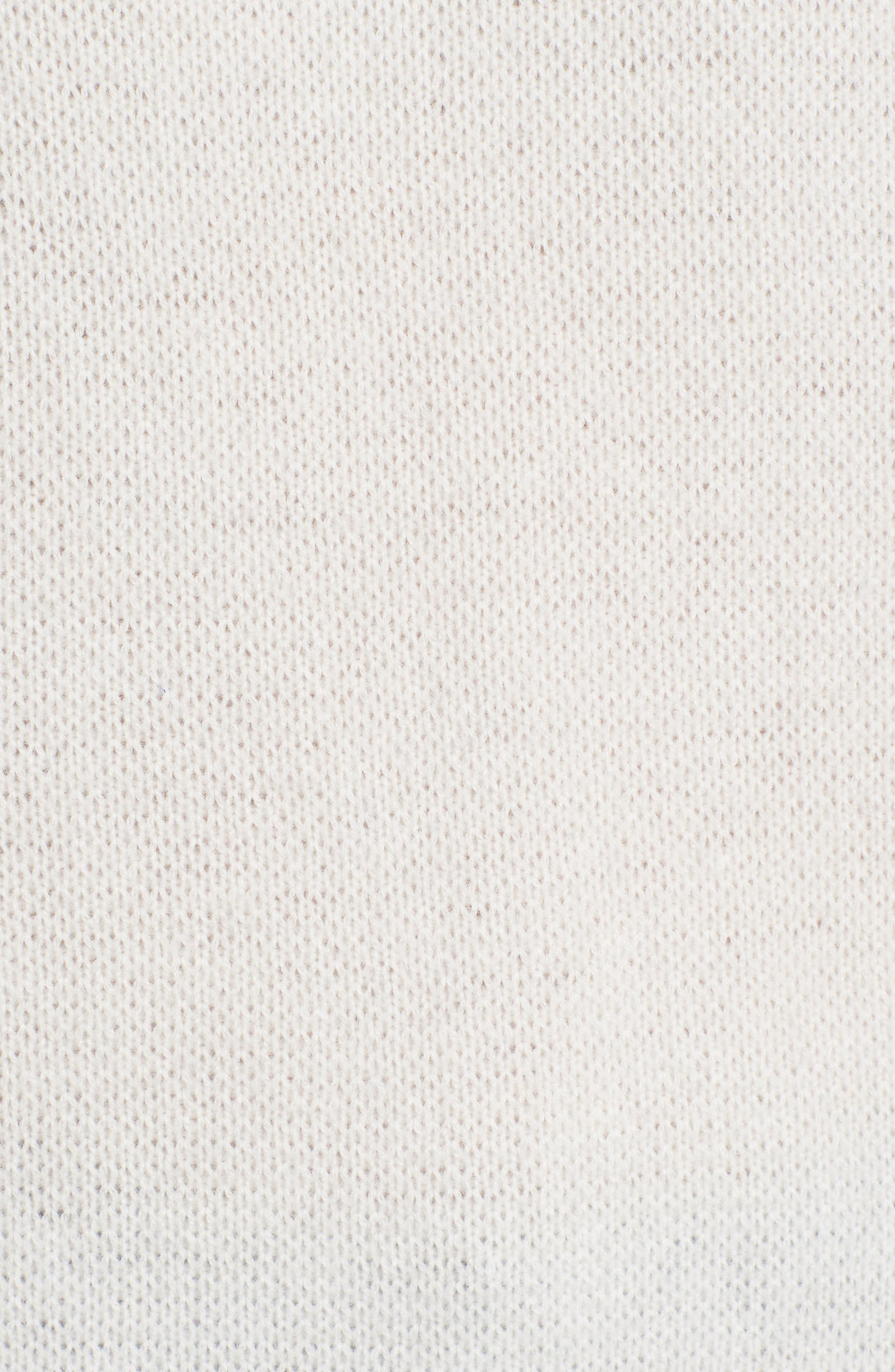 Alternate Image 5  - Halogen® Sheer Yoke Cashmere Sweater (Regular & Petite)
