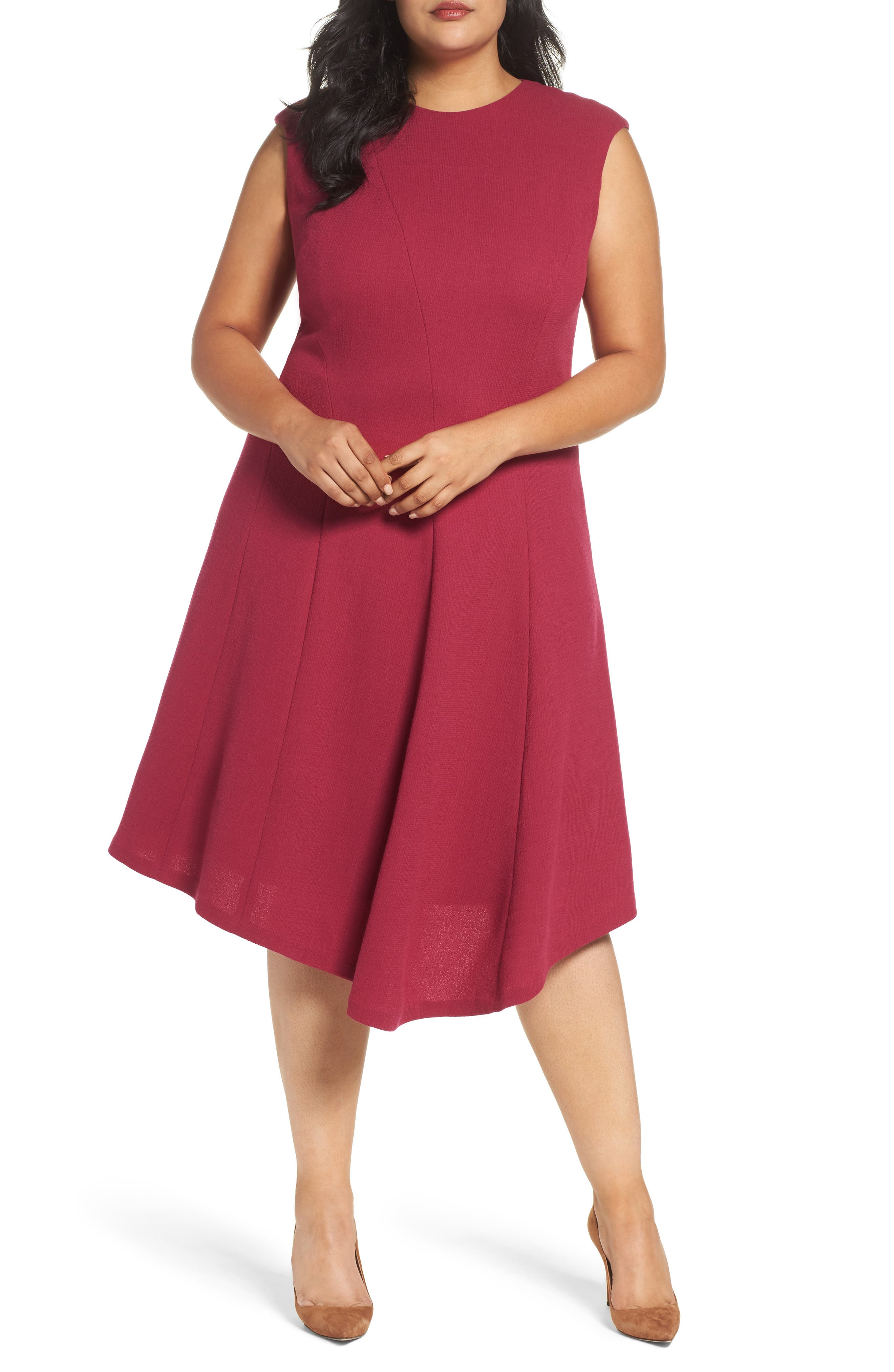 Alternate Image 1 Selected - Lafayette 148 New York Aveena Wool Interlock Dress (Plus Size)