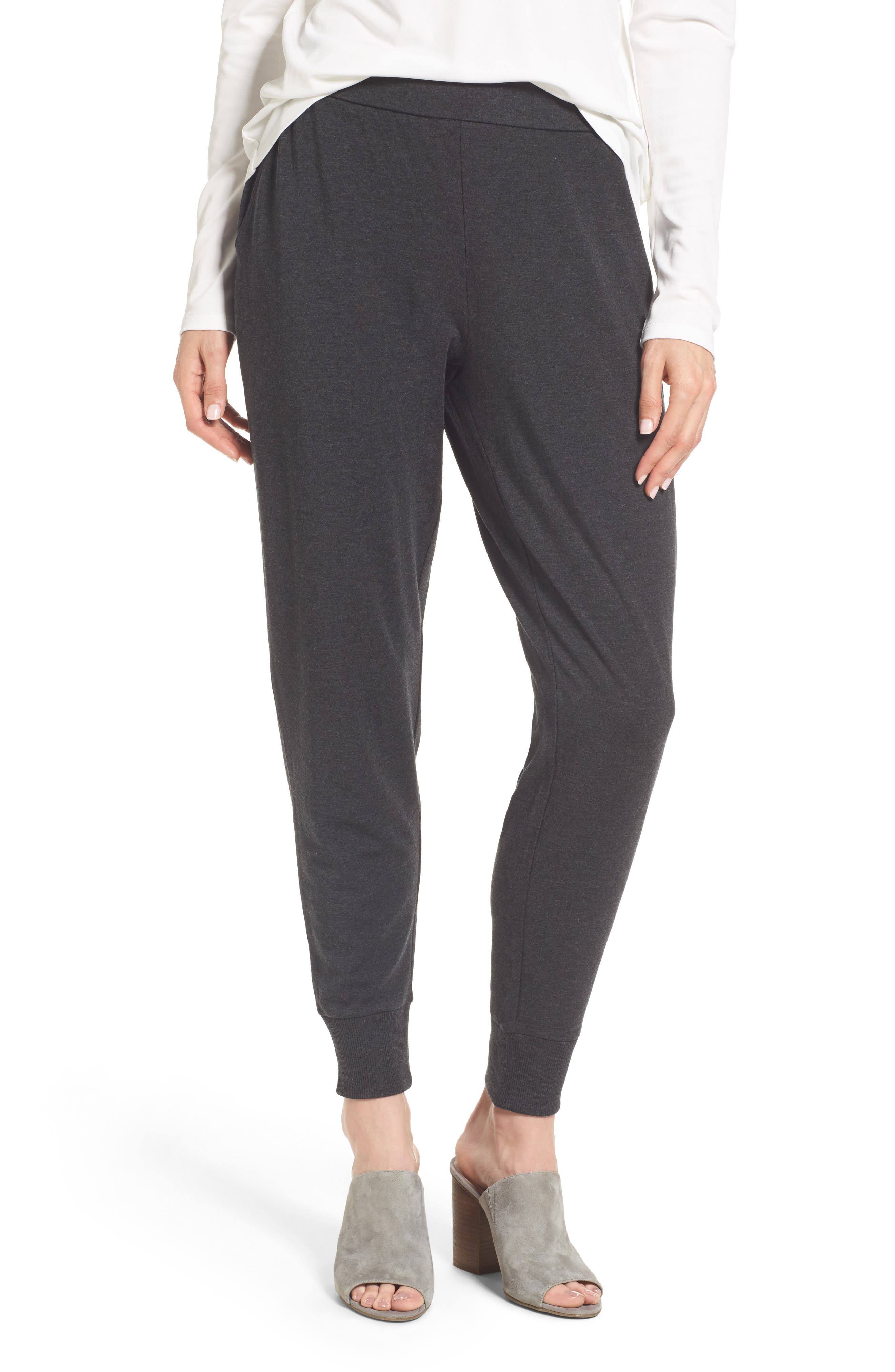 Slouchy Knit Pants,                         Main,                         color, Charcoal