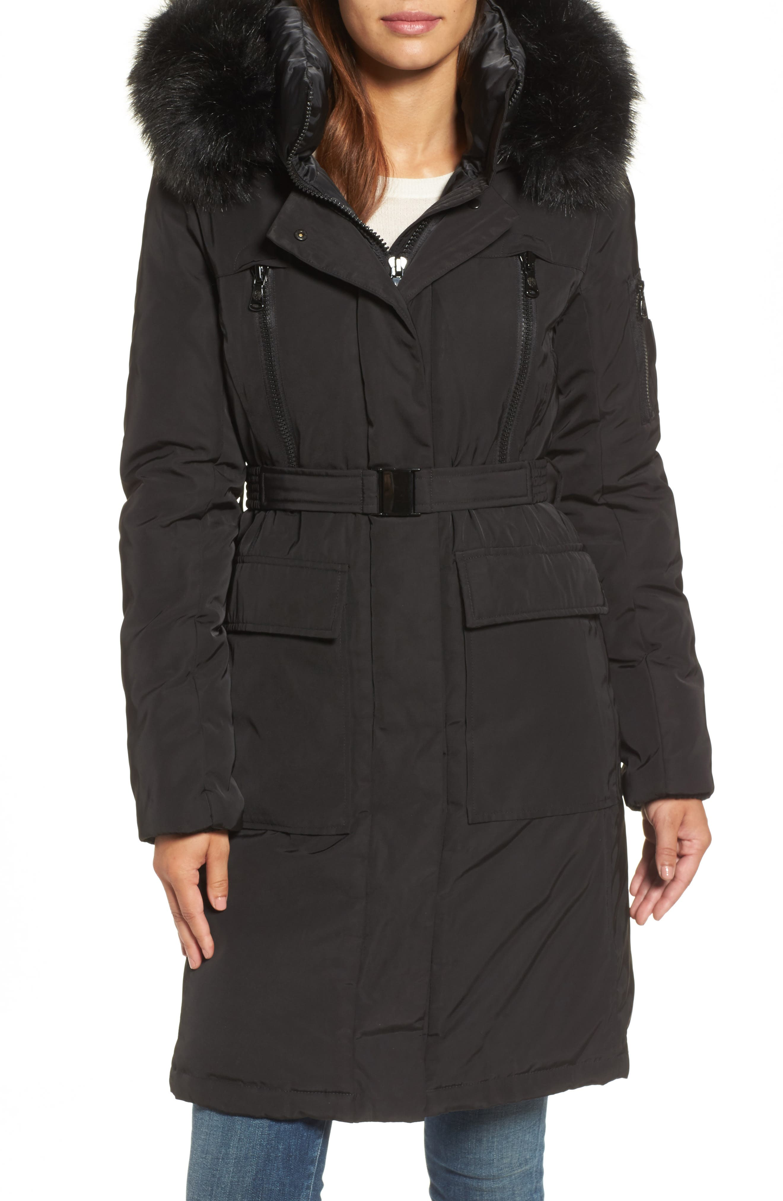 Insulated Puffer Jacket,                         Main,                         color, Black