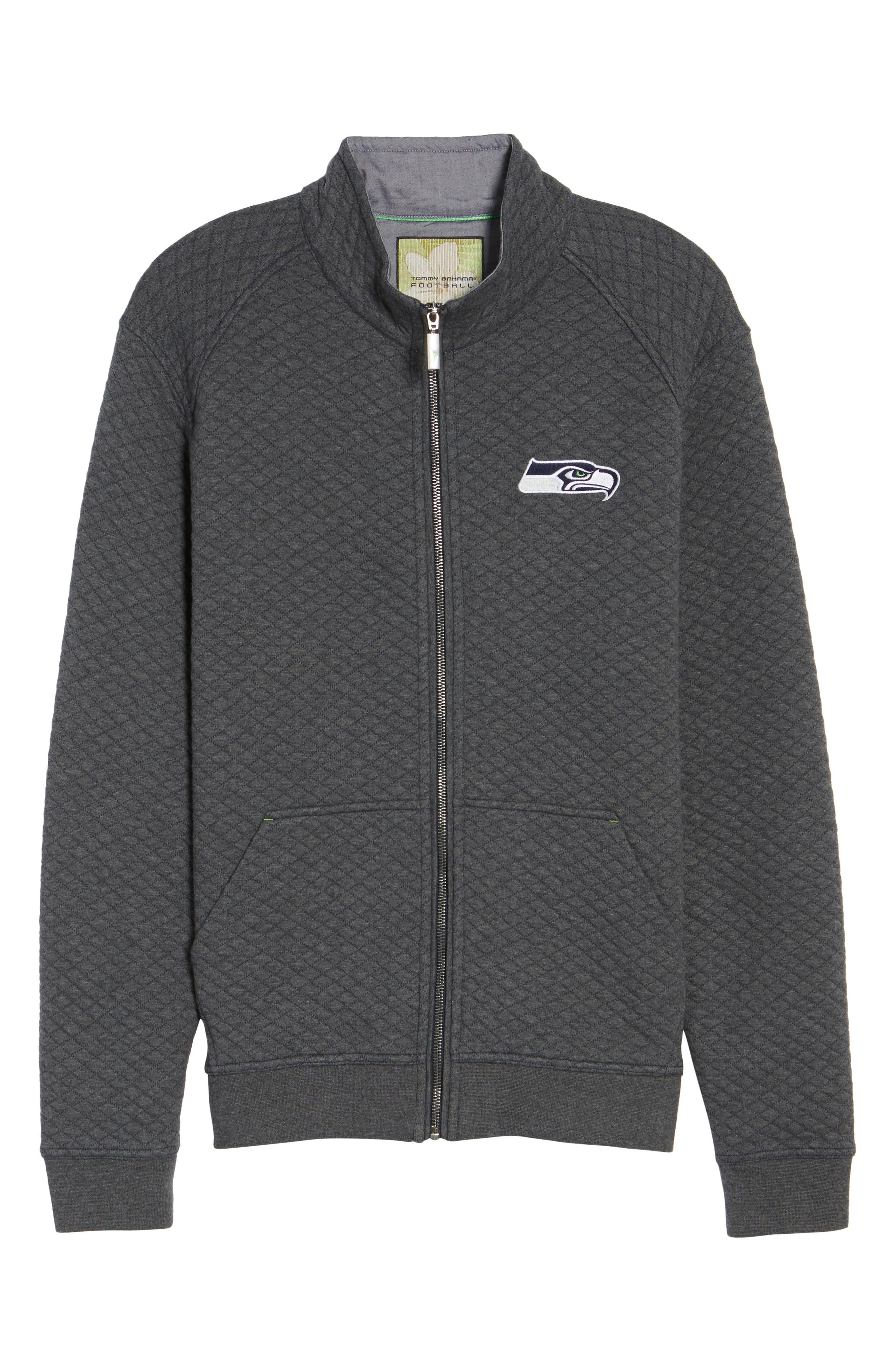 Alternate Image 6  - Tommy Bahama NFL Quiltessential Full Zip Sweatshirt