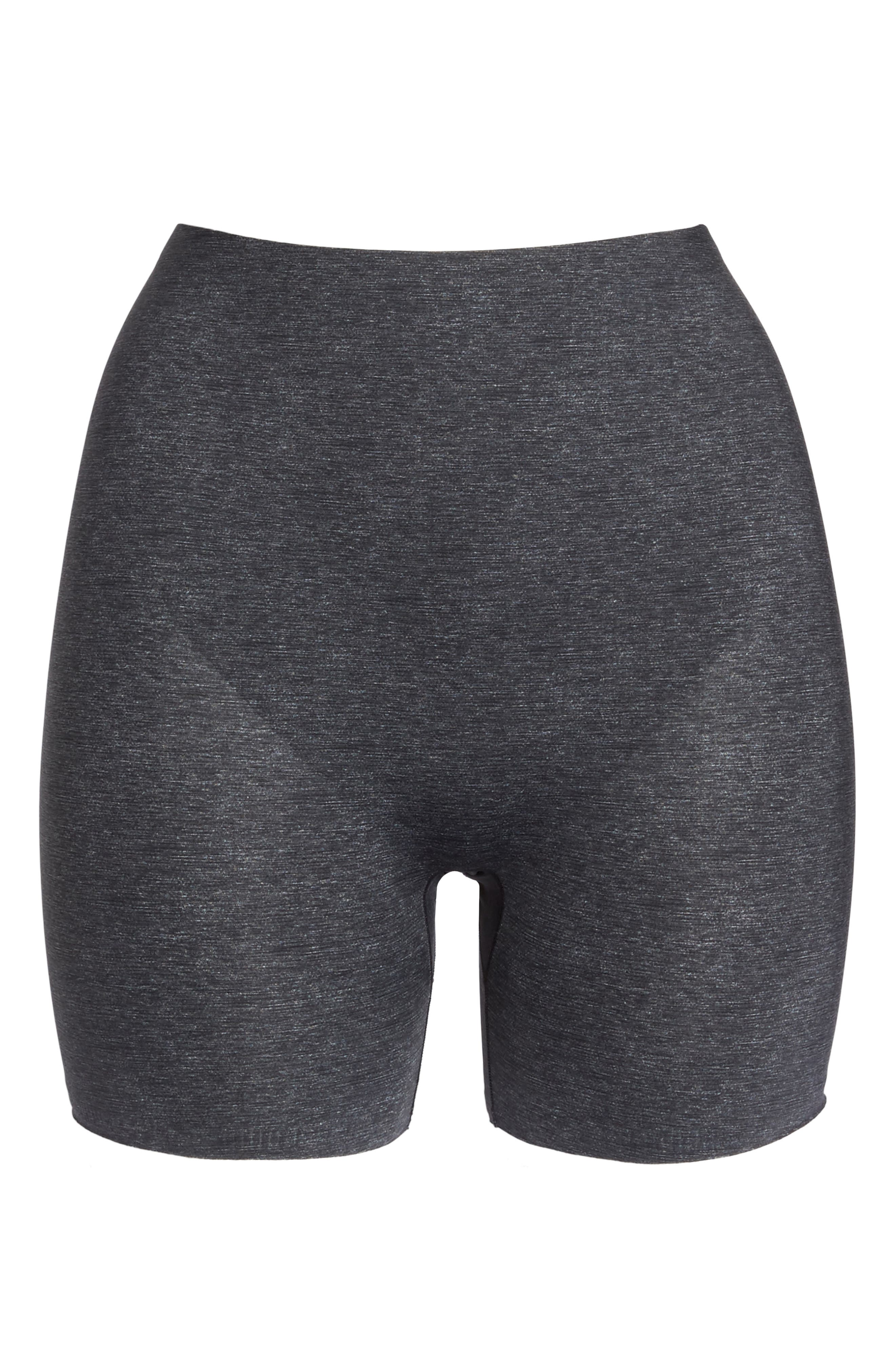 Thinstincts Girl Shorts,                             Alternate thumbnail 4, color,                             Heather Charcoal