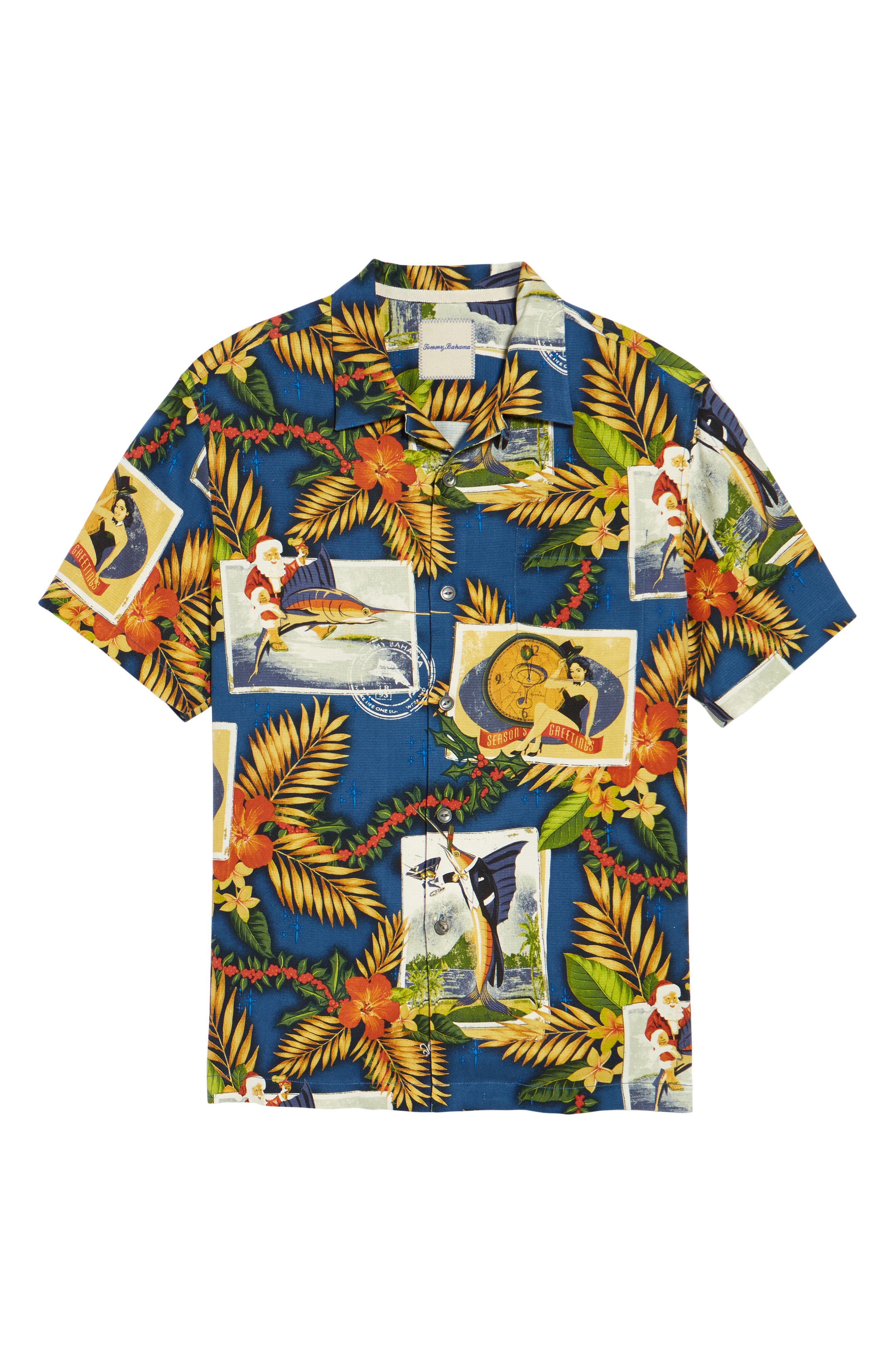 Alternate Image 6  - Tommy Bahama Tommy Holidays Silk Woven Shirt