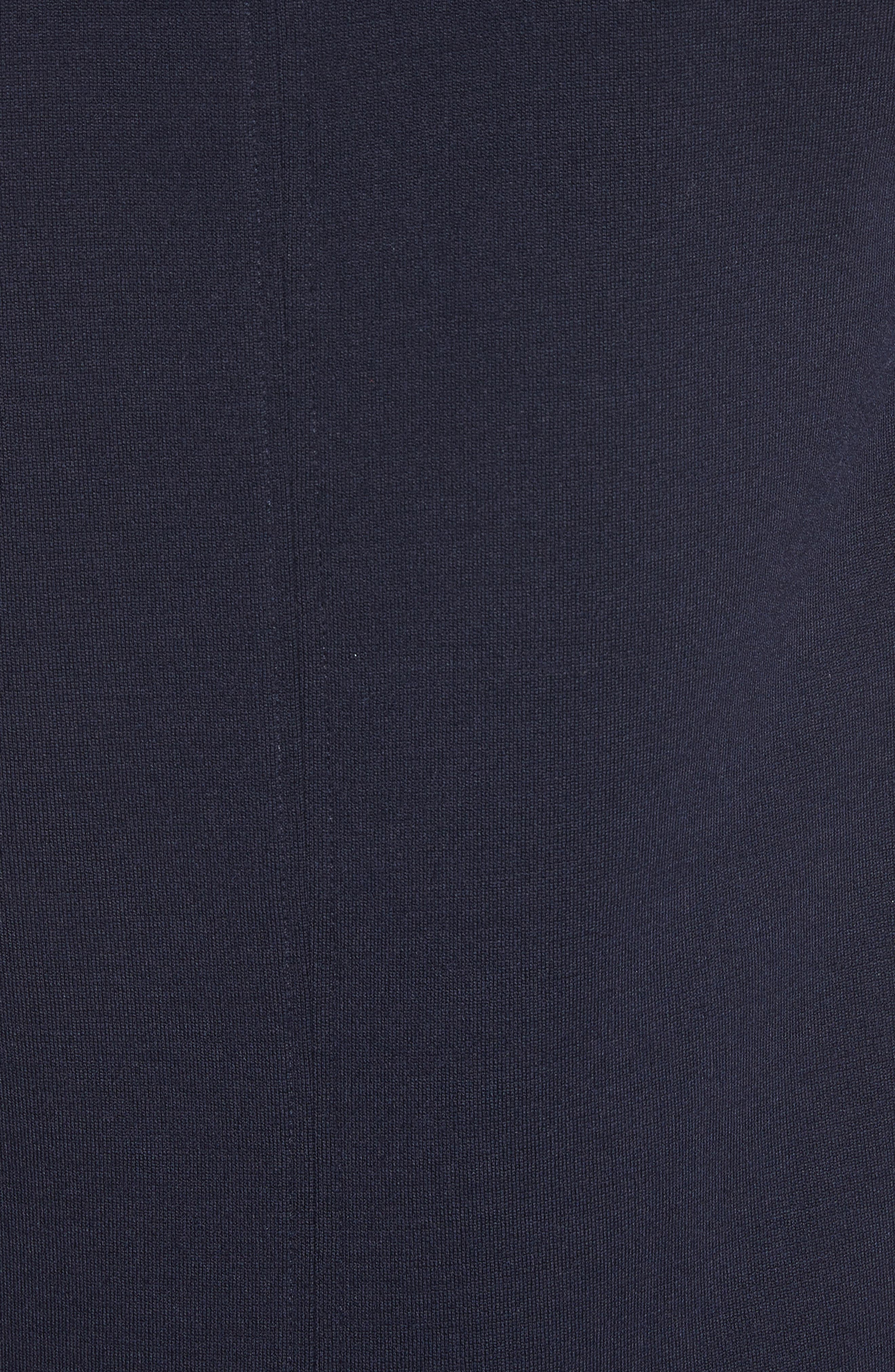 St John Collection Milano Knit Collared Tunic,                             Alternate thumbnail 5, color,                             Navy