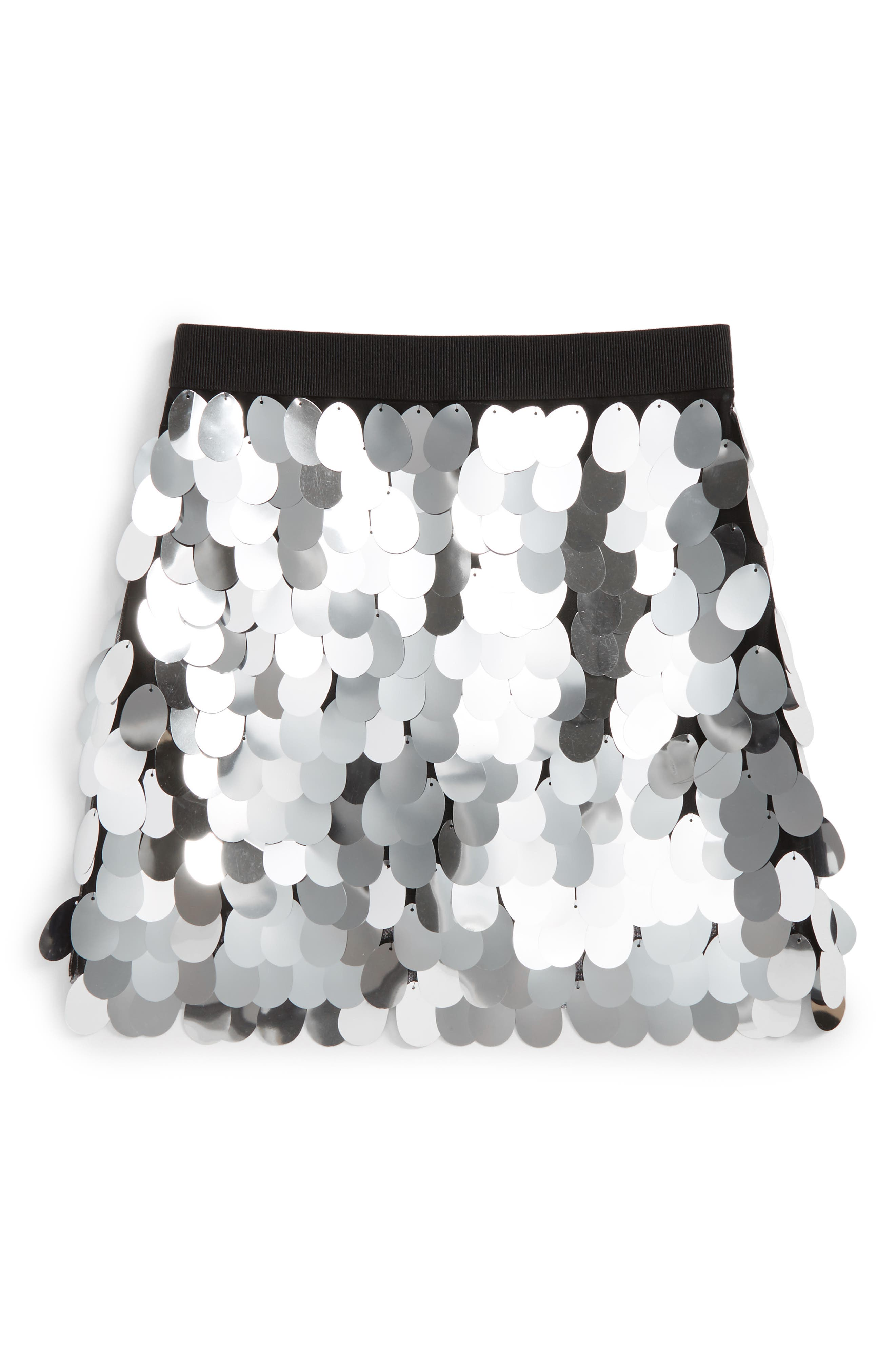 Paillette Sequin Skirt,                         Main,                         color, Silver