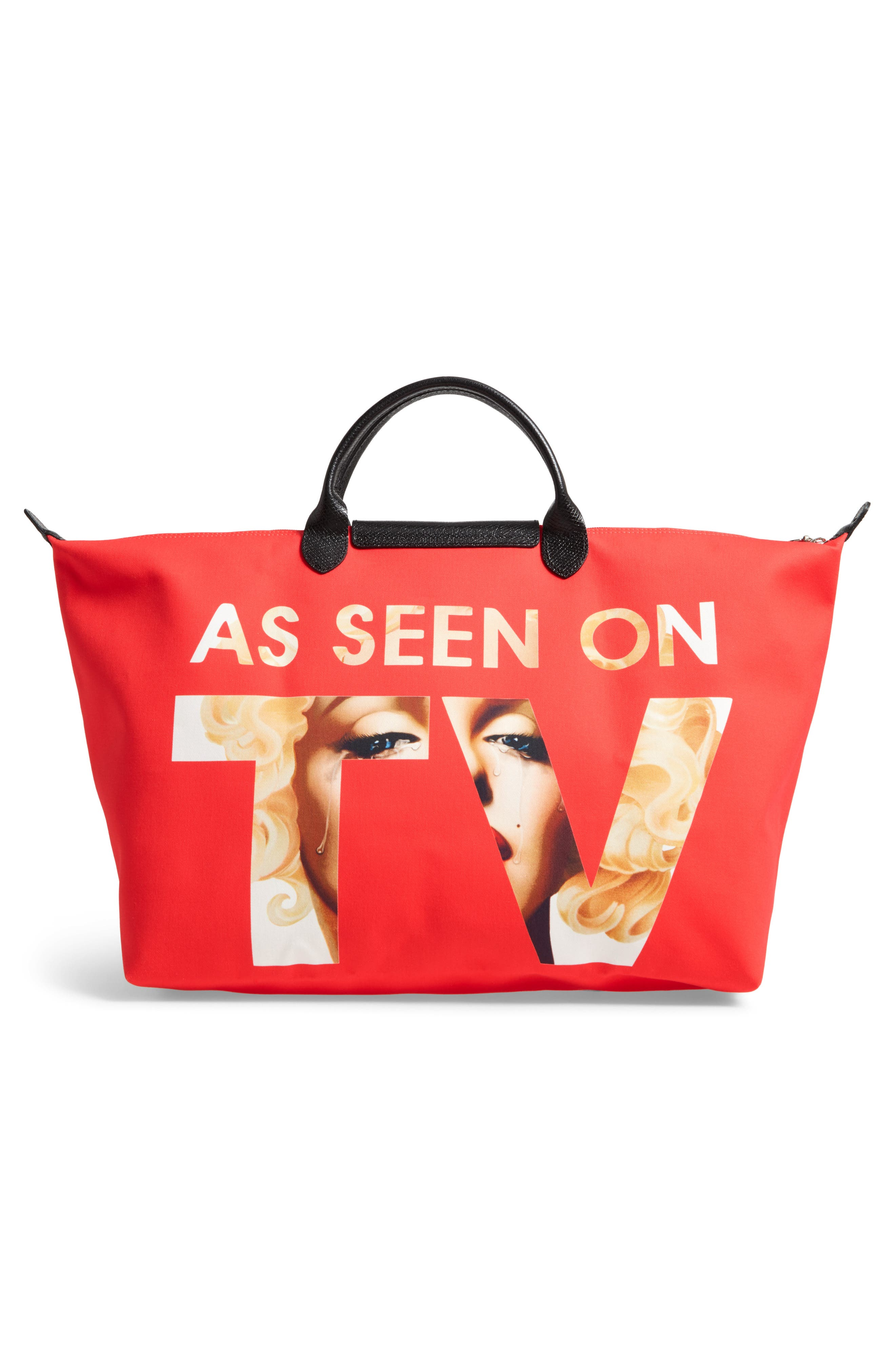 x Jeremy Scott As Seen on TV Tote,                             Alternate thumbnail 2, color,                             Red