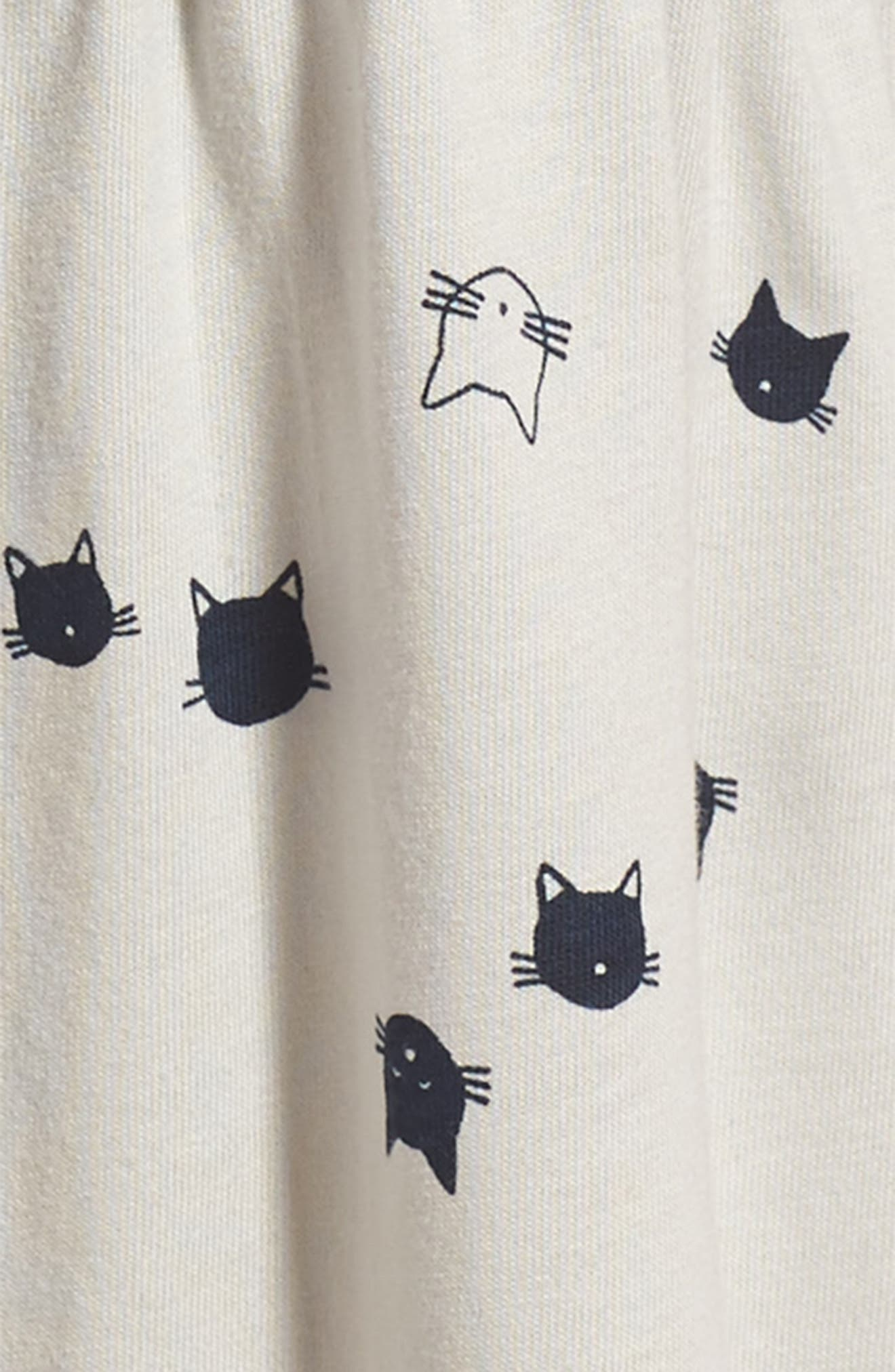 Alternate Image 3  - Tea Collection Moggy Cat Shirtdress (Toddler Girls, Little Girls & Big Girls)