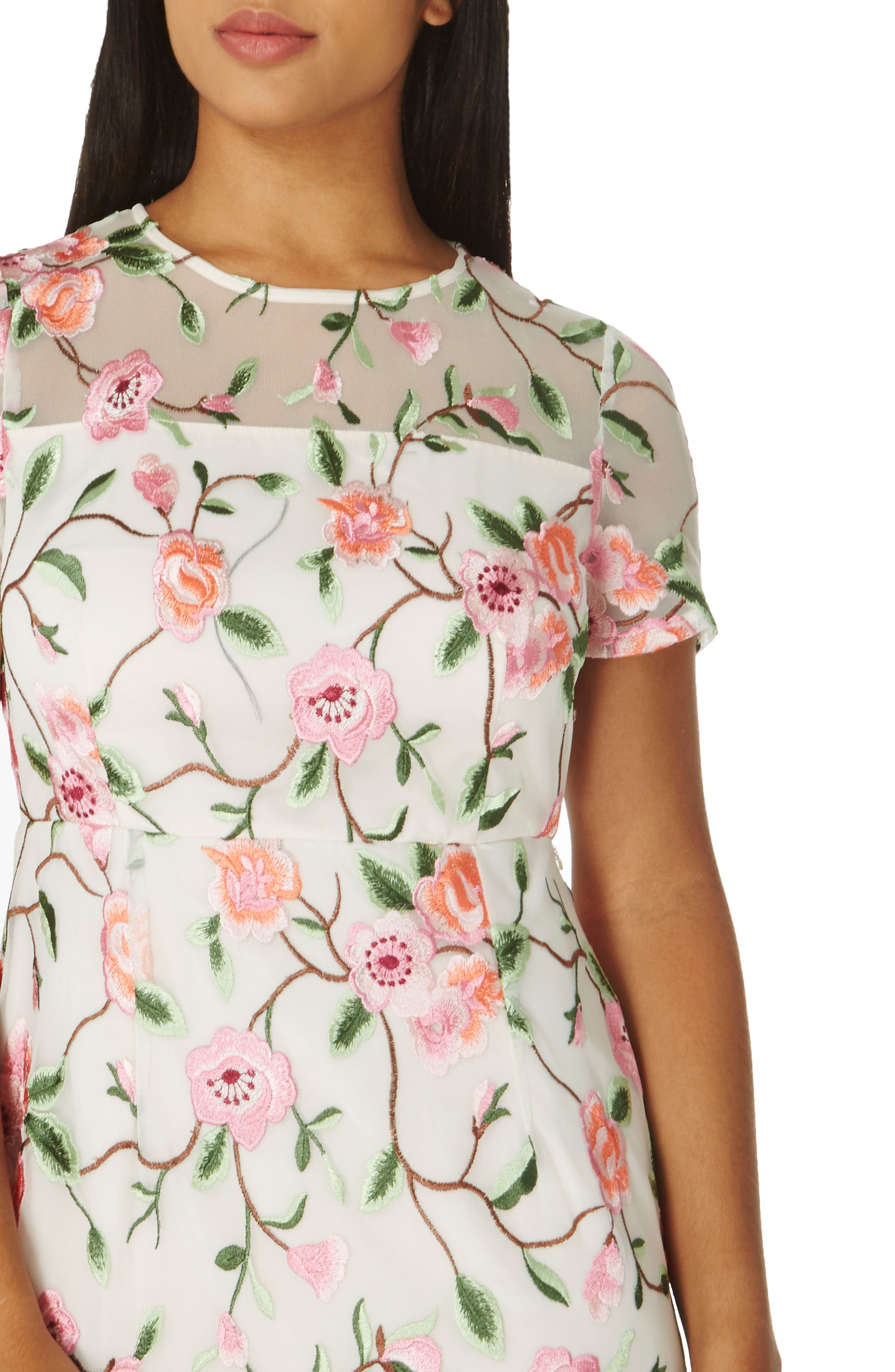 Alternate Image 3  - Dorothy Perkins Floral Embroidered Sheath Dress
