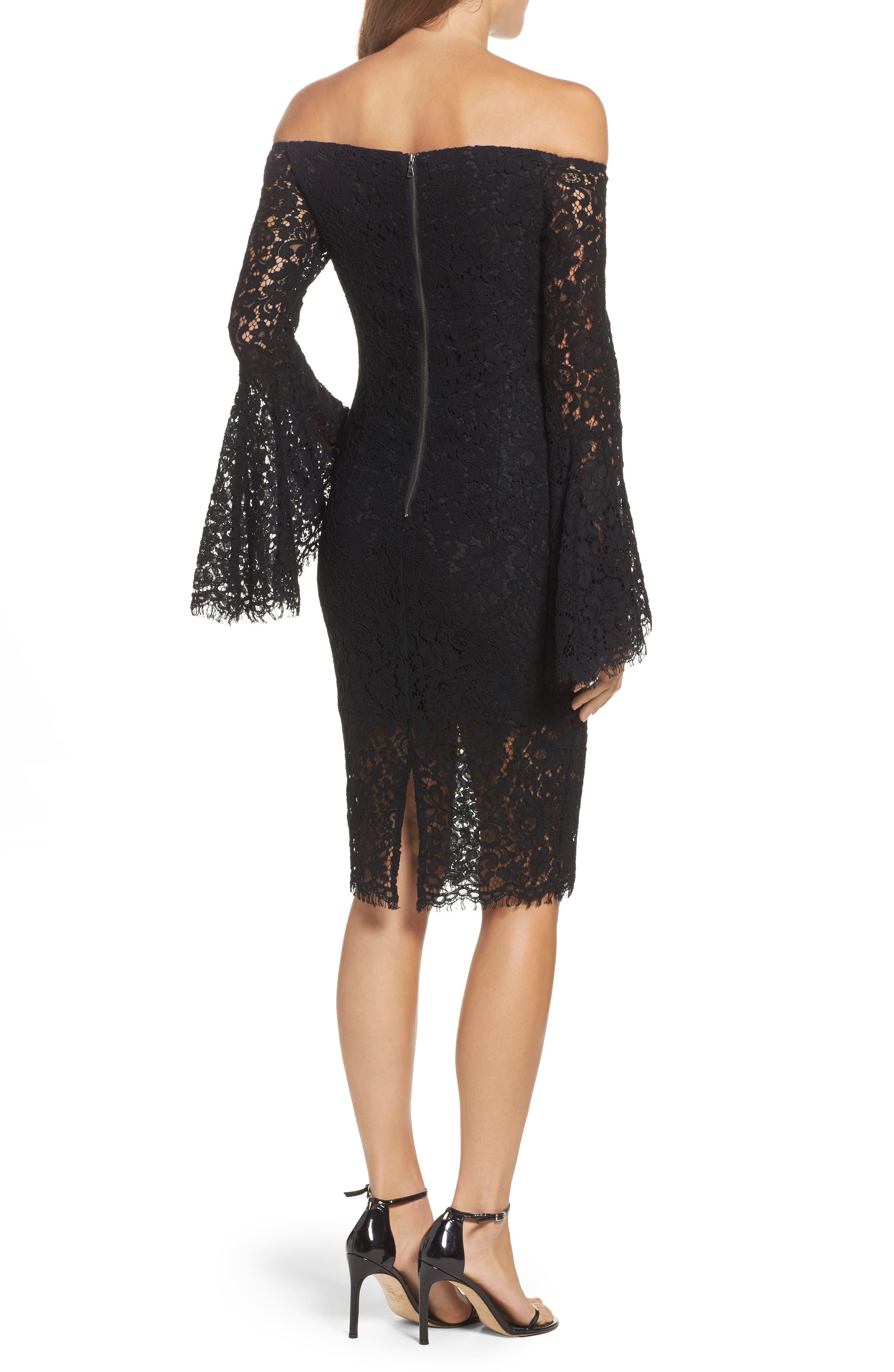 Alternate Image 2  - Bardot Solange Corded Lace Sheath Dress