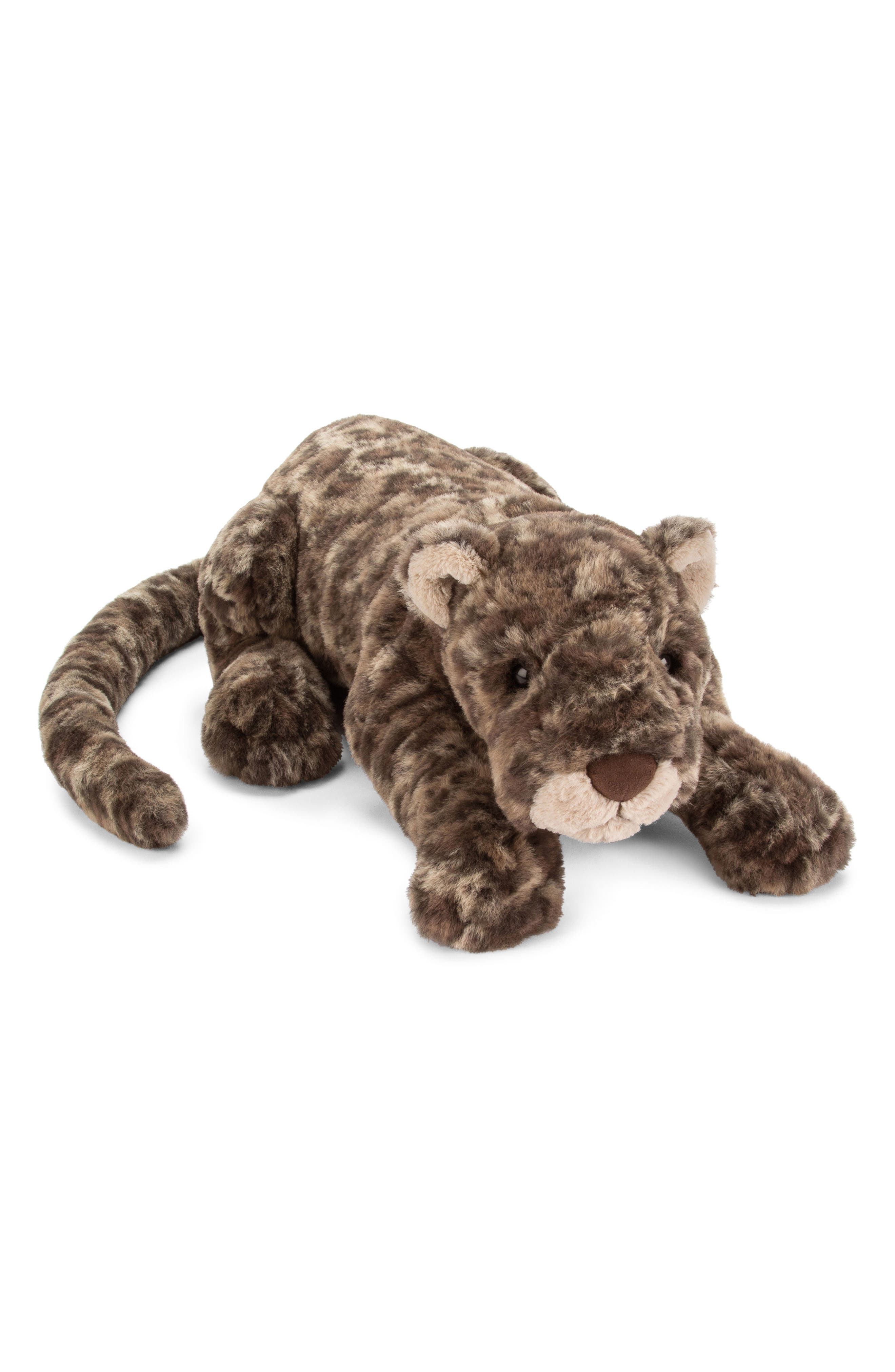Lexi Leopard Stuffed Animal,                             Main thumbnail 1, color,                             Brown