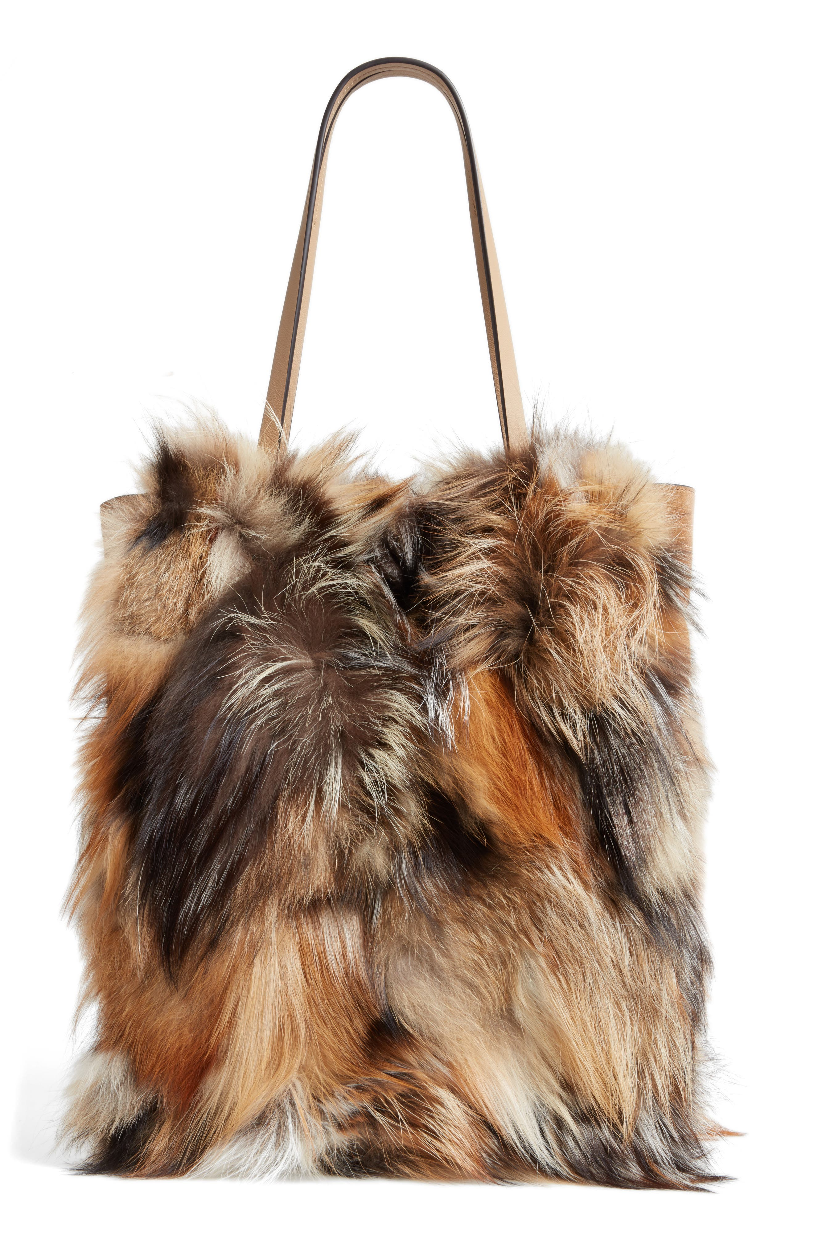 Alternate Image 2  - Michael Kors Large Elenor Genuine Fox Fur Tote