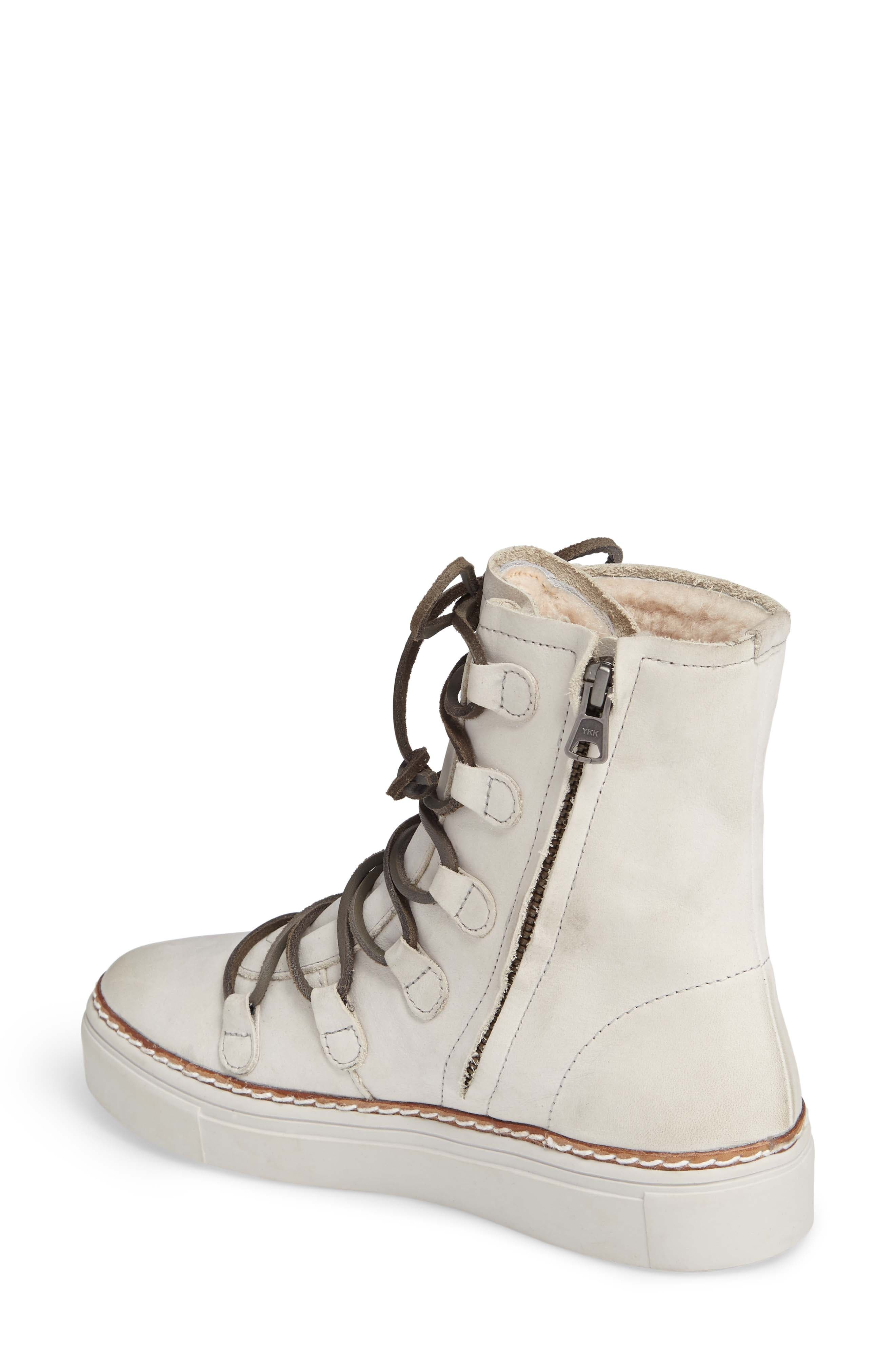 Alternate Image 2  - Blackstone OL26 Genuine Shearling Lined Lace-Up Bootie (Women)