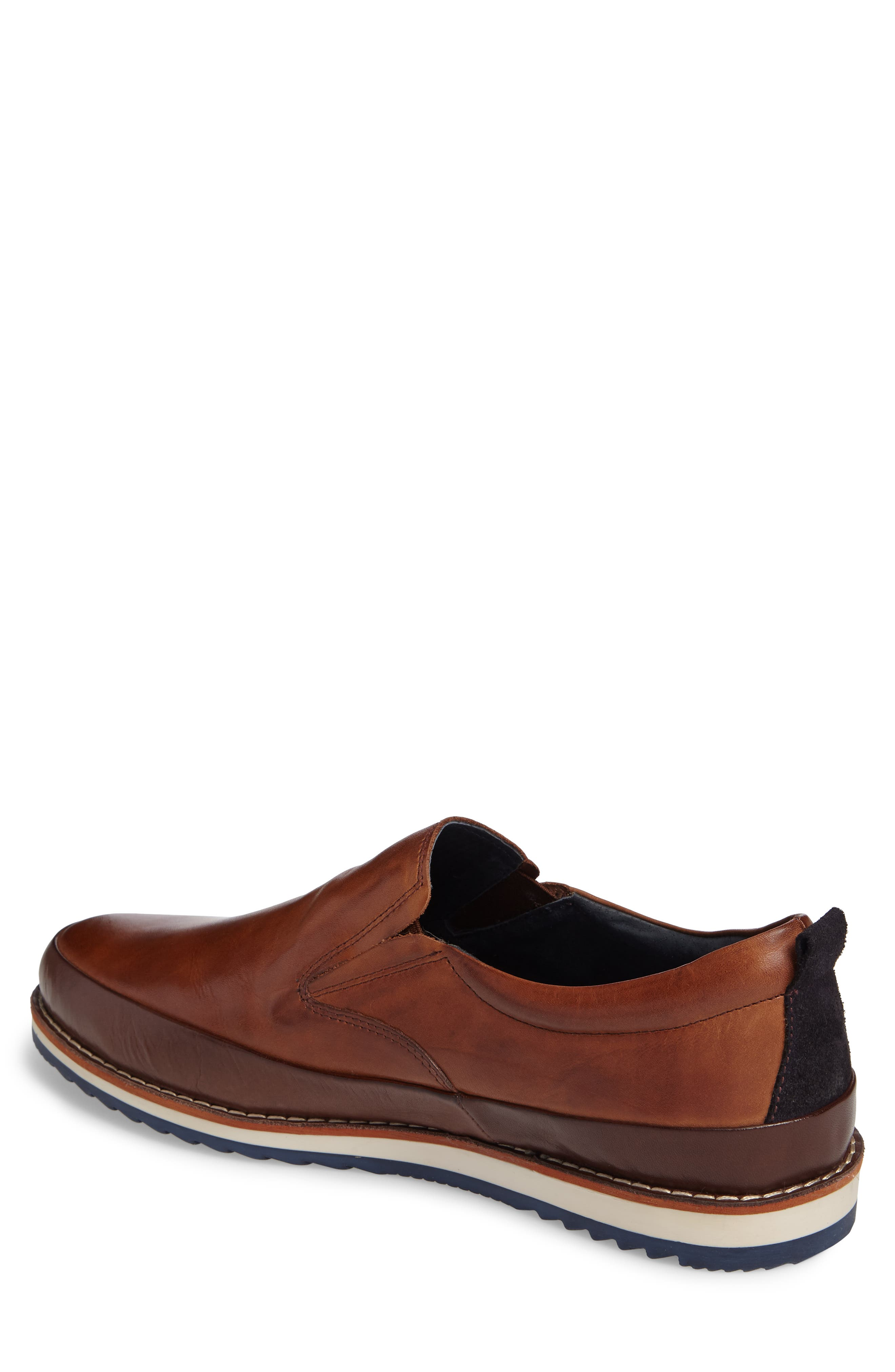 Biarritz Slip-On,                             Alternate thumbnail 2, color,                             Brown Leather