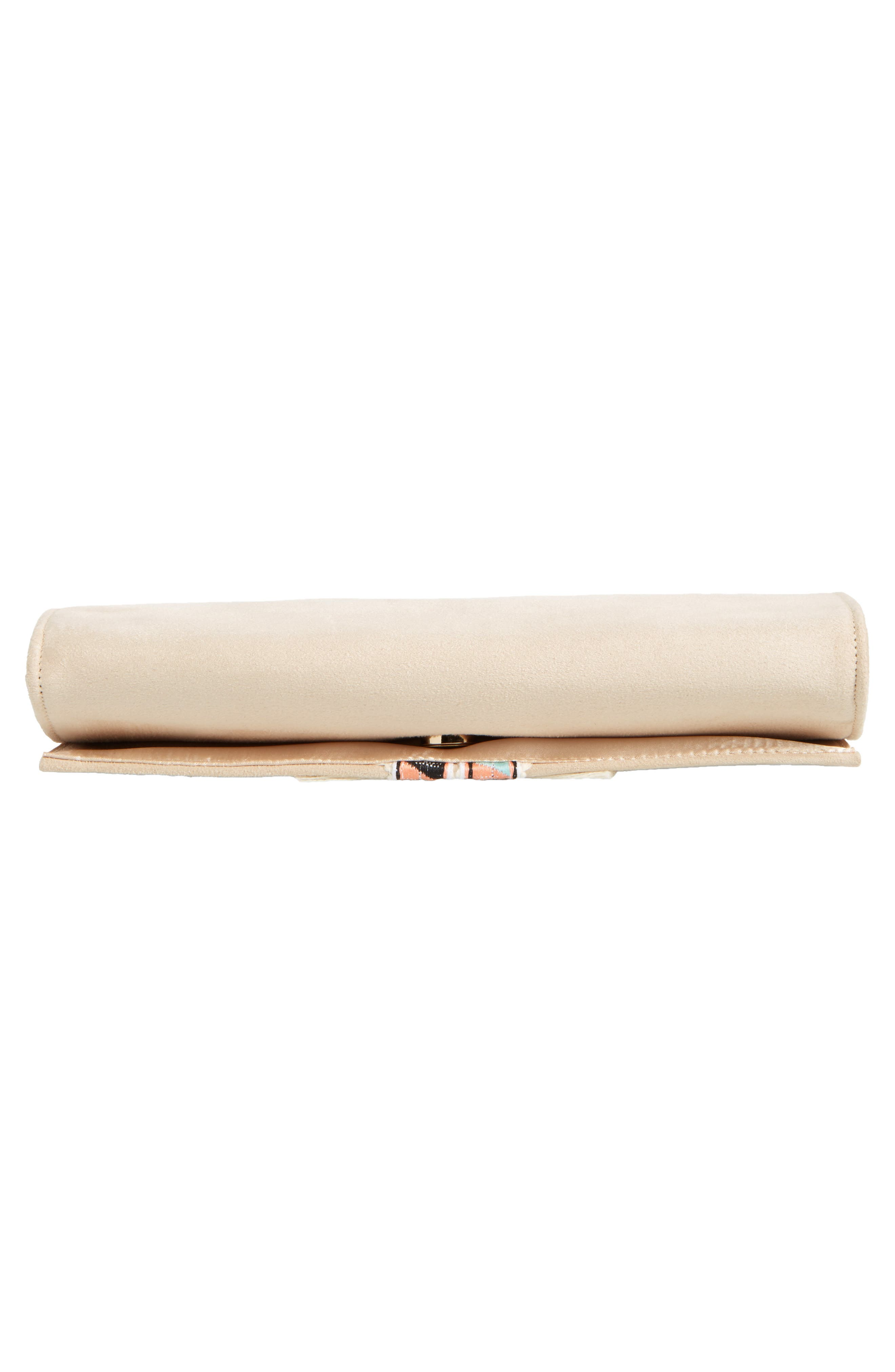 Rada Embroidered Clutch,                             Alternate thumbnail 4, color,                             Sand