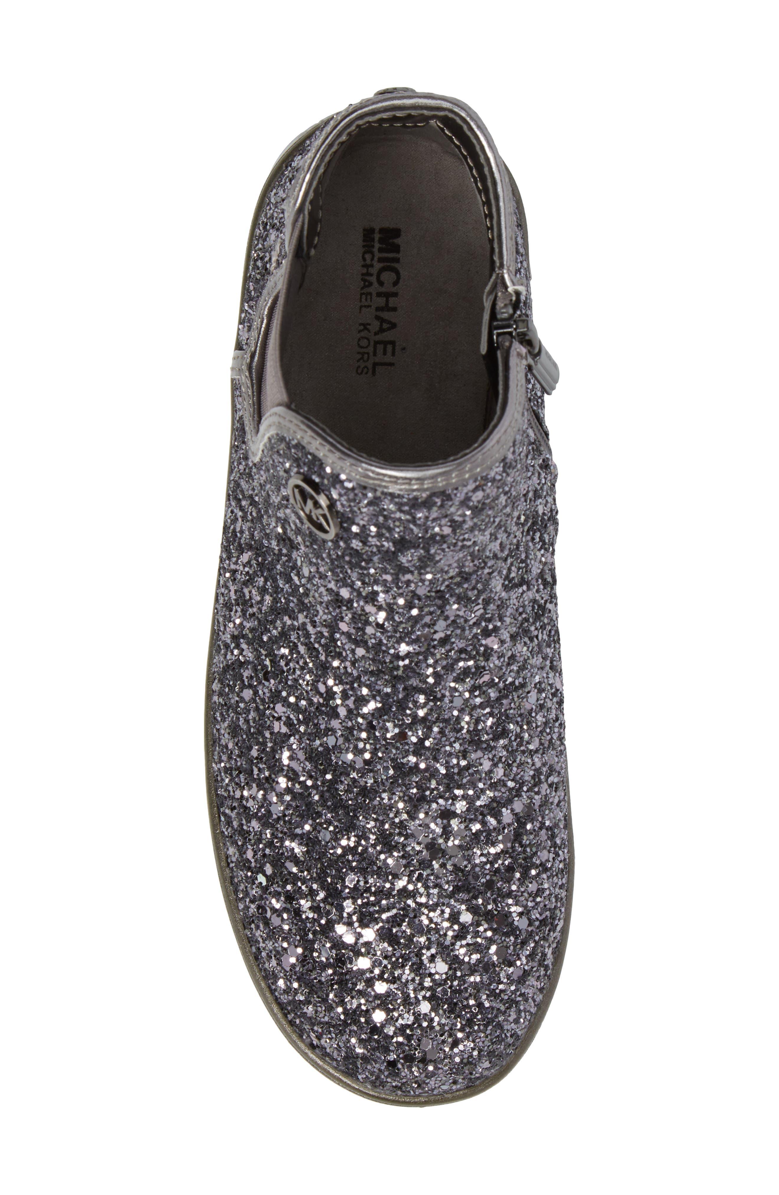 Alternate Image 5  - MICHAEL Michael Kors Ollie Rae Glittery Sneaker Boot (Walker, Toddler, Little Kid & Big Kid)