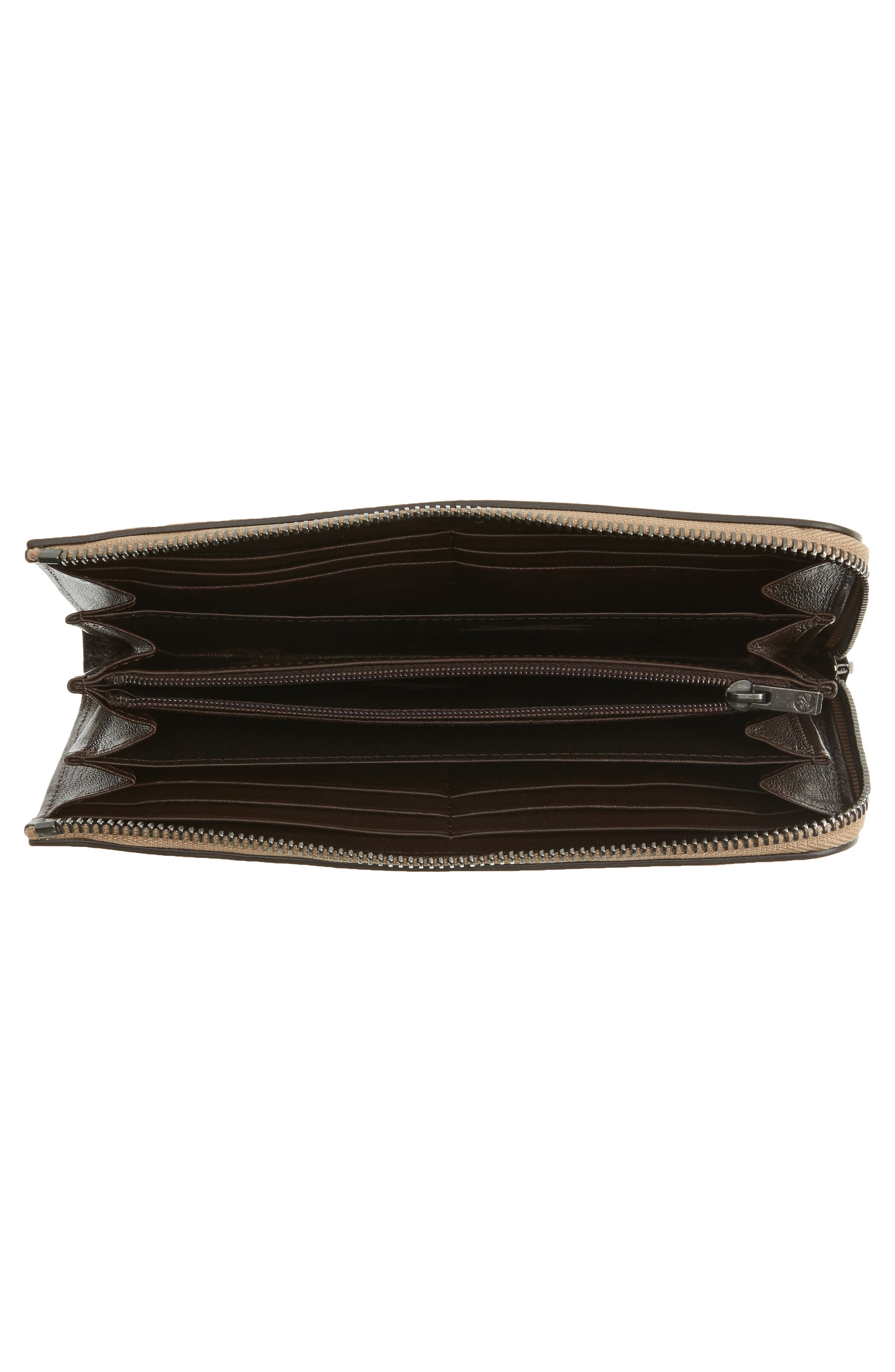 3D Leather Wallet,                             Alternate thumbnail 3, color,                             Taupe