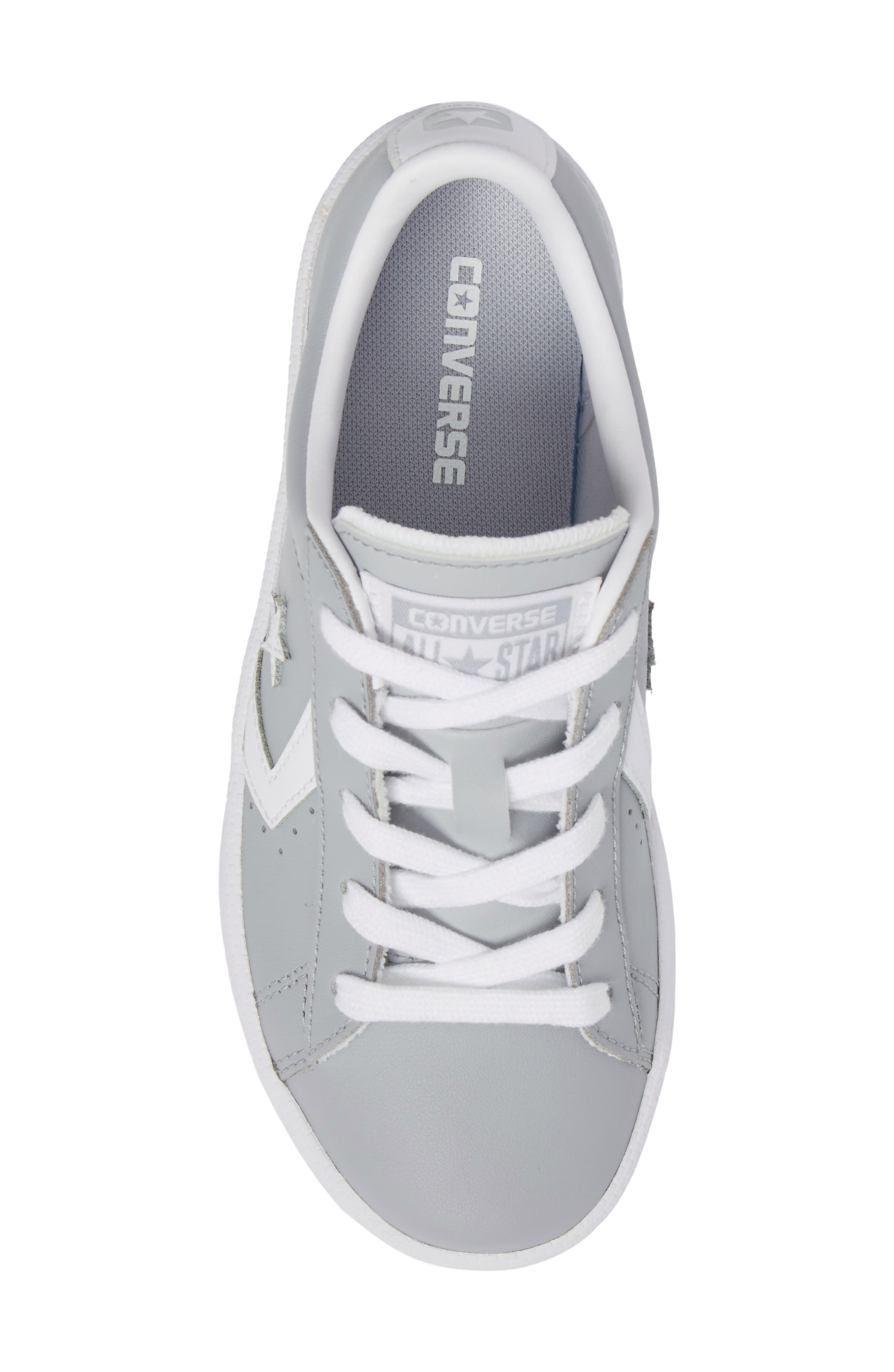 All Star<sup>®</sup> Pro Leather Low Top Sneaker,                             Alternate thumbnail 5, color,                             Wolf Grey