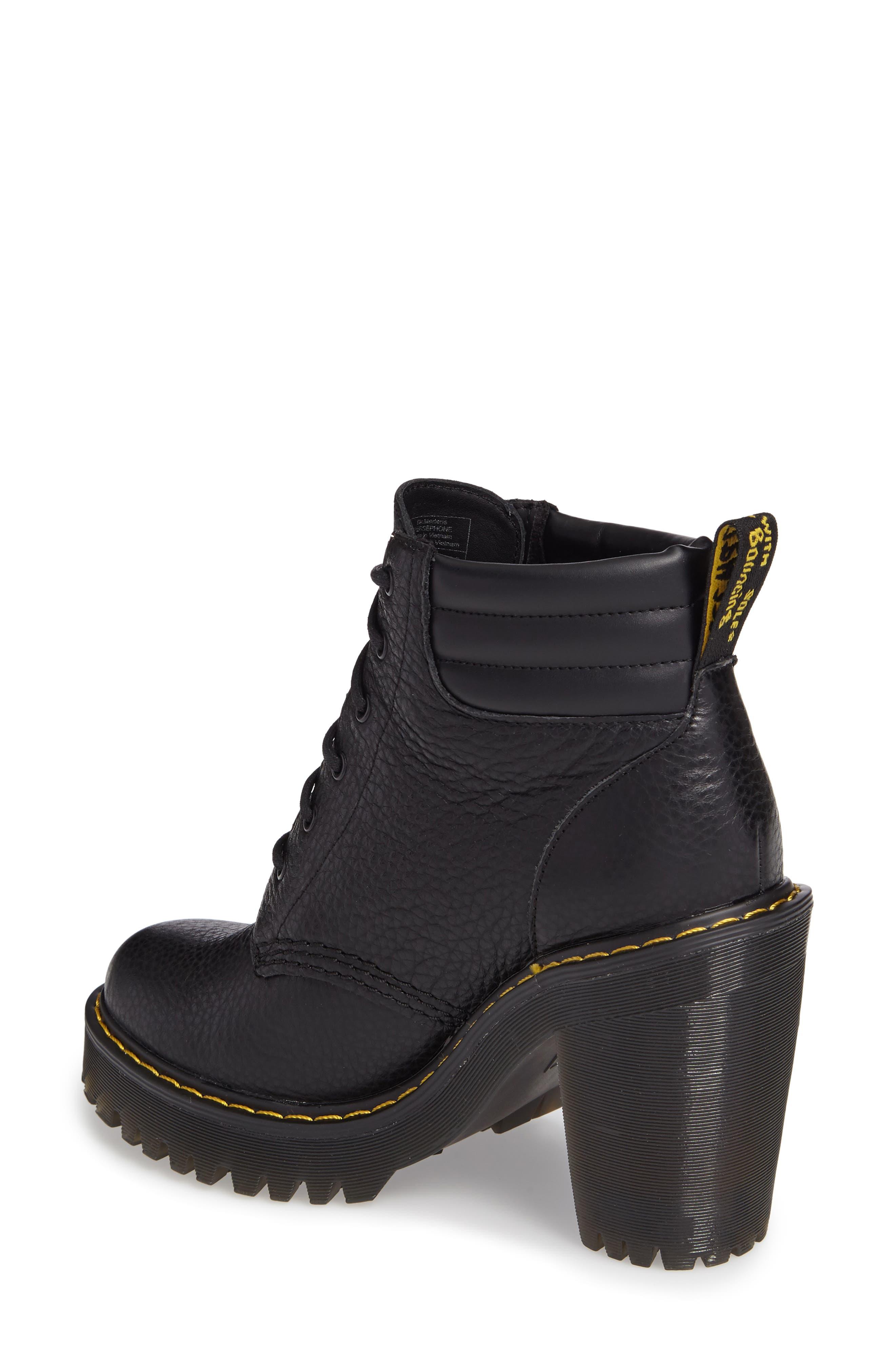 Persephone Platform Boot,                             Alternate thumbnail 2, color,                             Black Leather