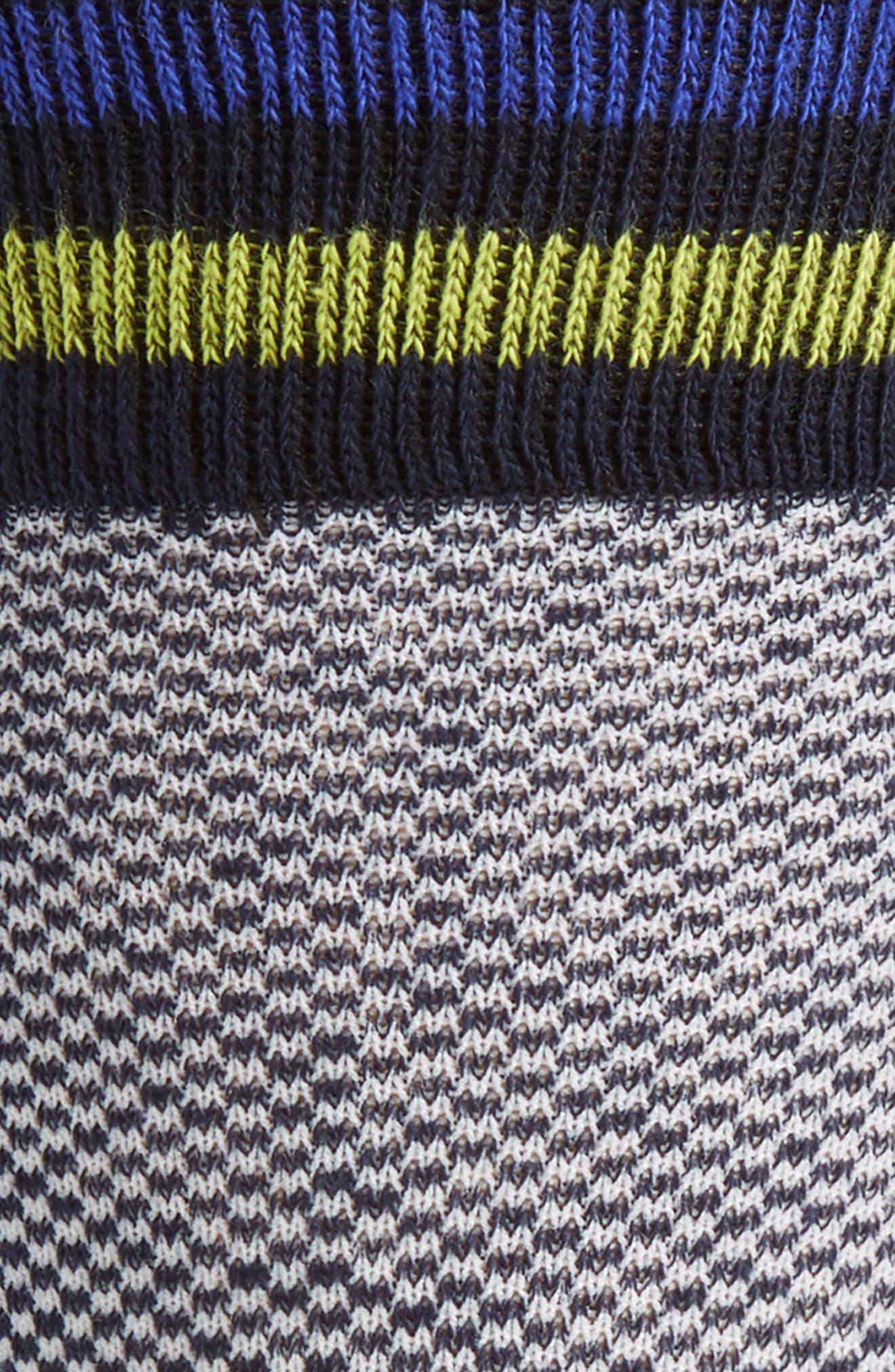 Oxford Socks,                             Alternate thumbnail 2, color,                             Navy/ White