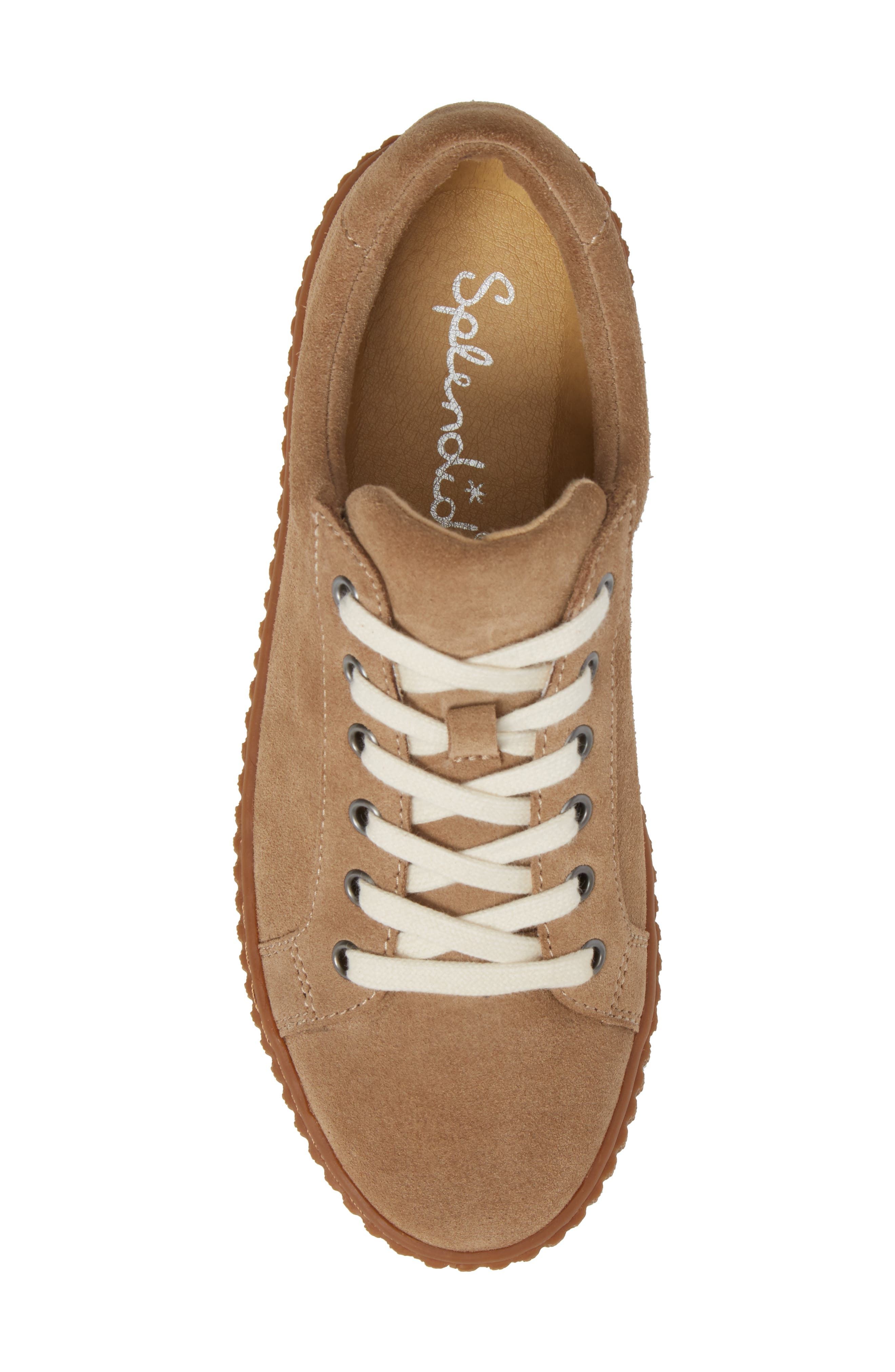 Ruth Platform Sneaker,                             Alternate thumbnail 5, color,                             Light Taupe Suede