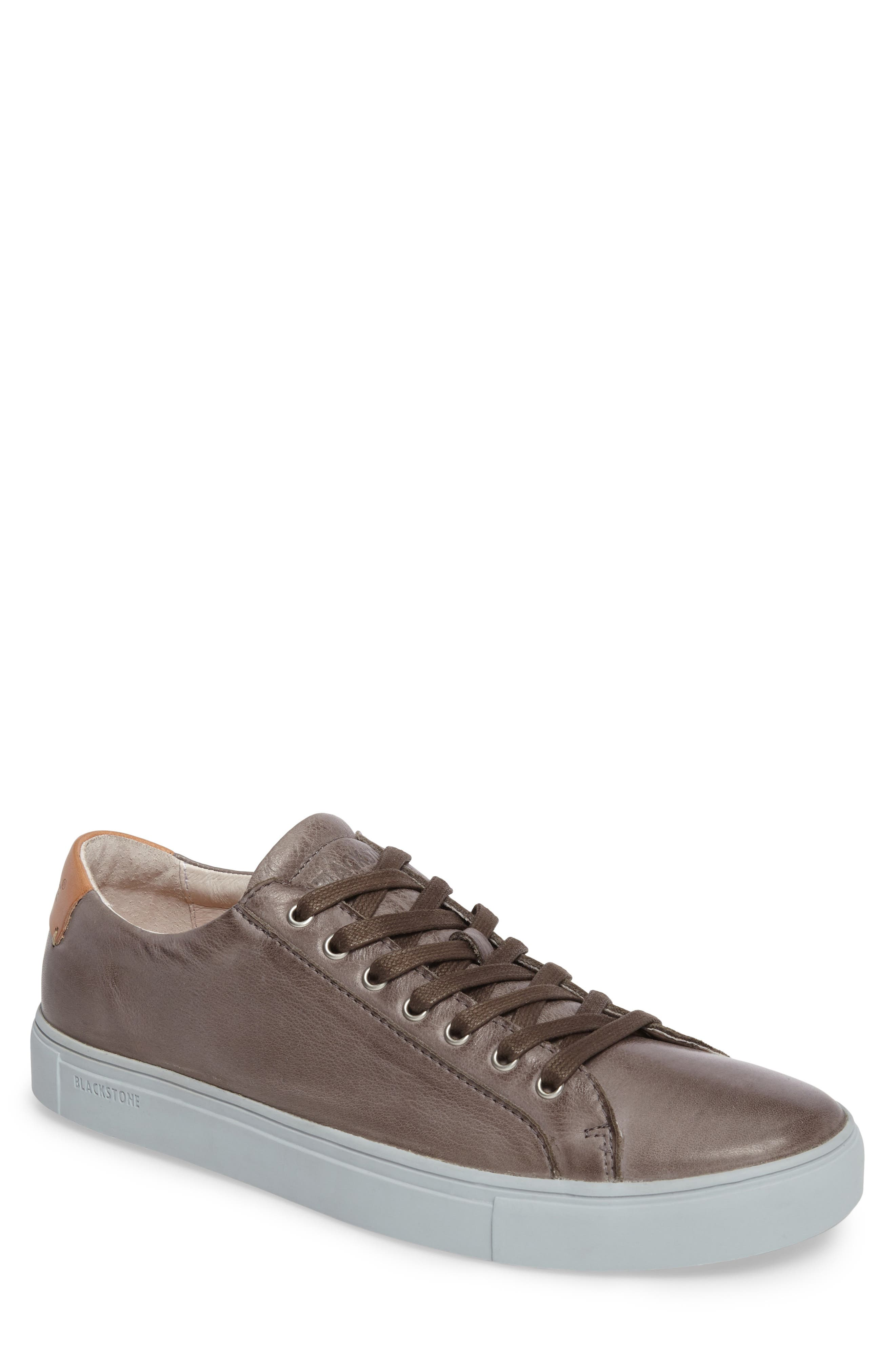 NM01 7 Eyelet Sneaker,                         Main,                         color, Charcoal Leather
