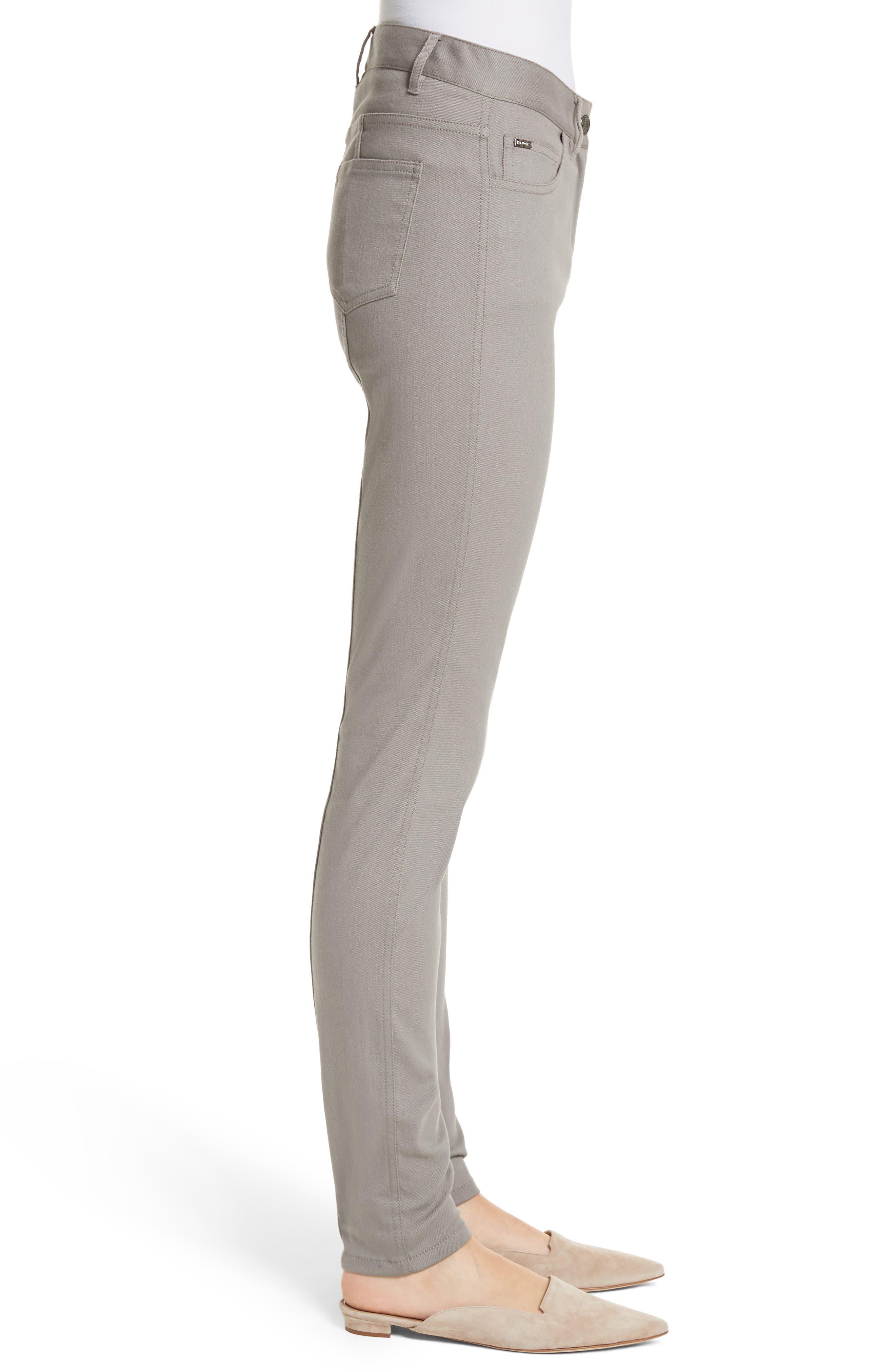 Bardot Double Dye Stretch Jeans,                             Alternate thumbnail 3, color,                             Travertine
