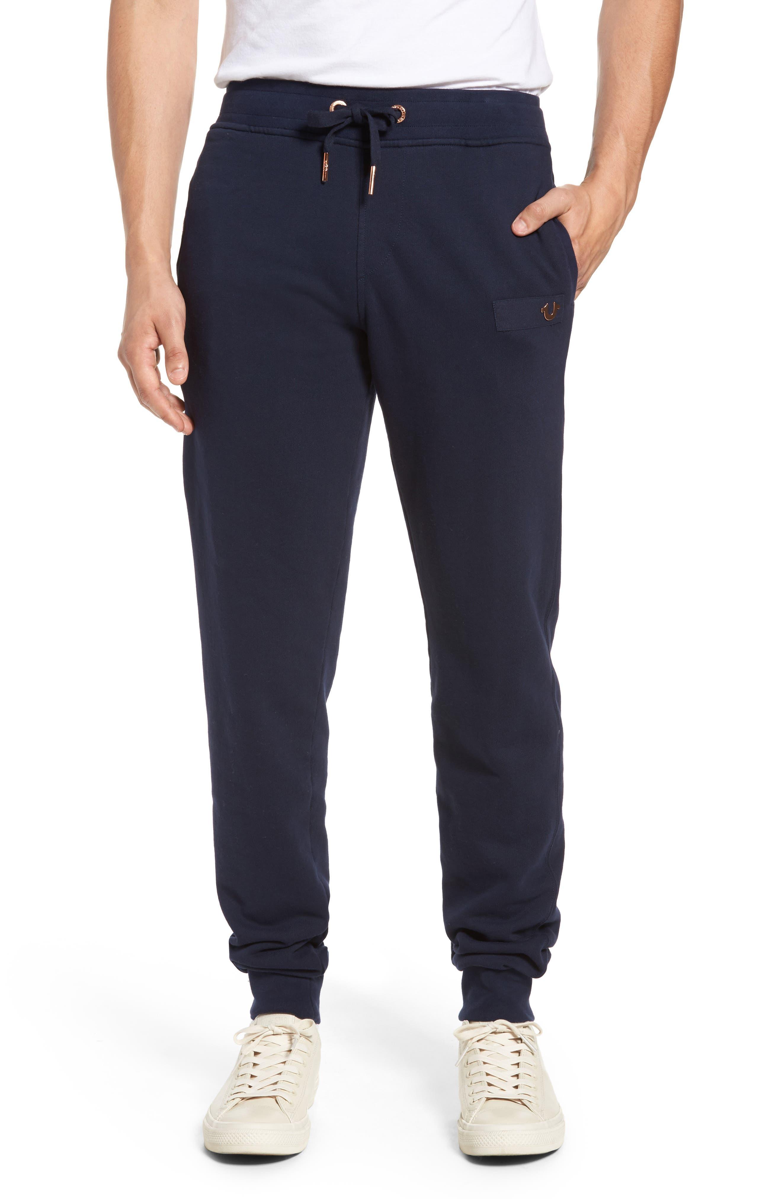 Horseshoe Sweatpants,                             Main thumbnail 1, color,                             Navy