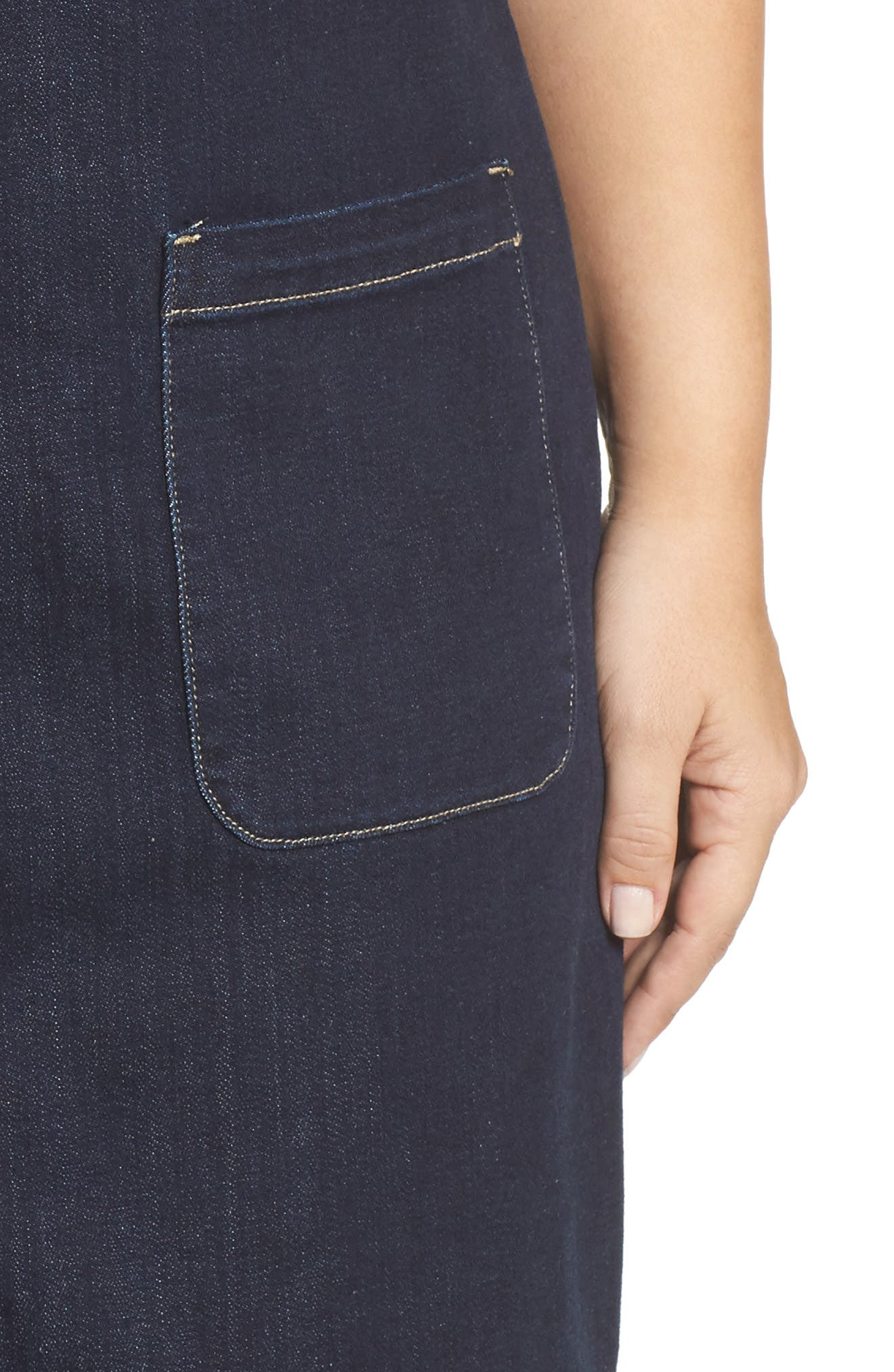 Alternate Image 4  - Two by Vince Camuto Release Hem Denim Dress (Plus Size)