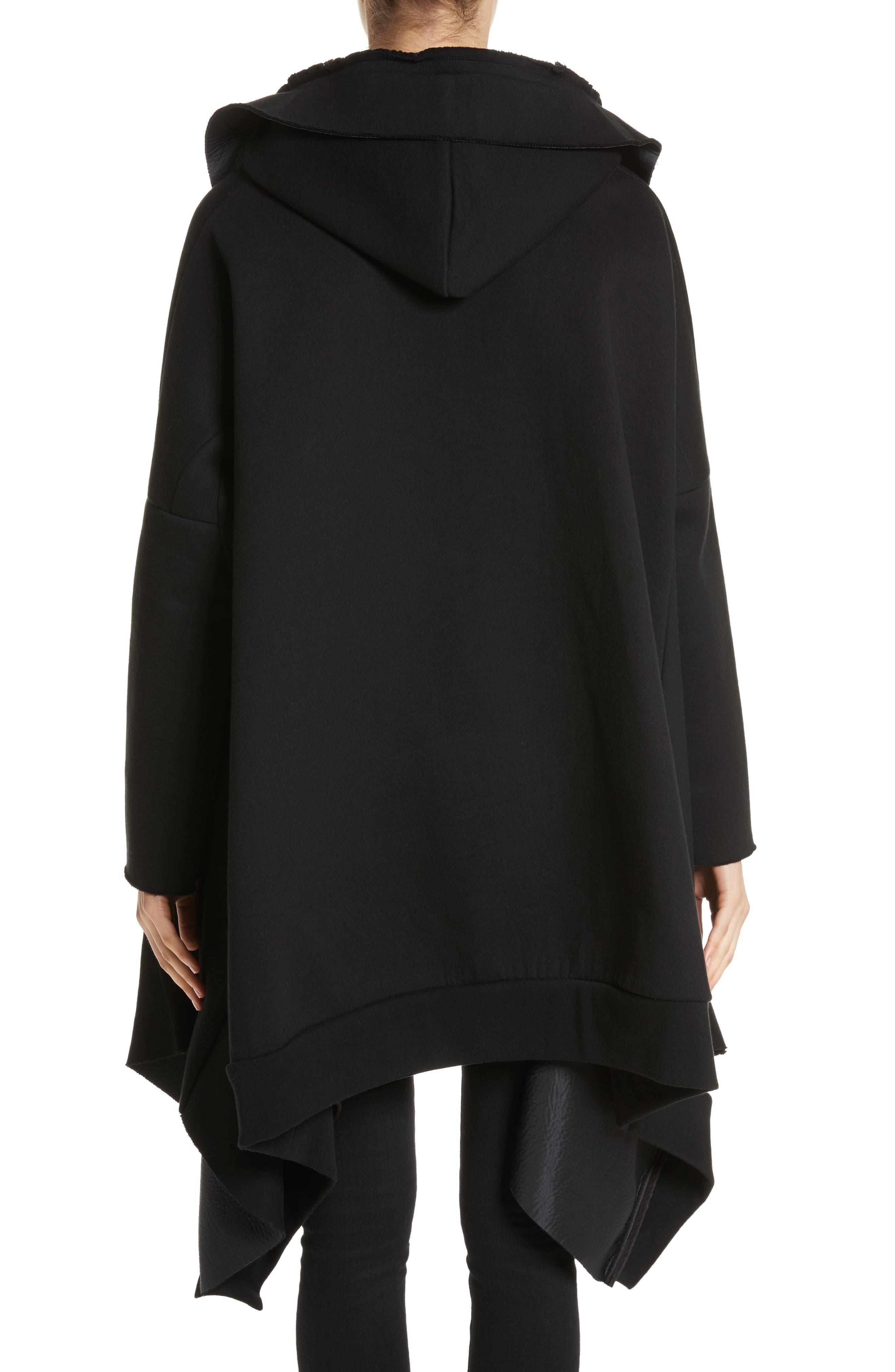 Hooded Coat,                             Alternate thumbnail 2, color,                             Black
